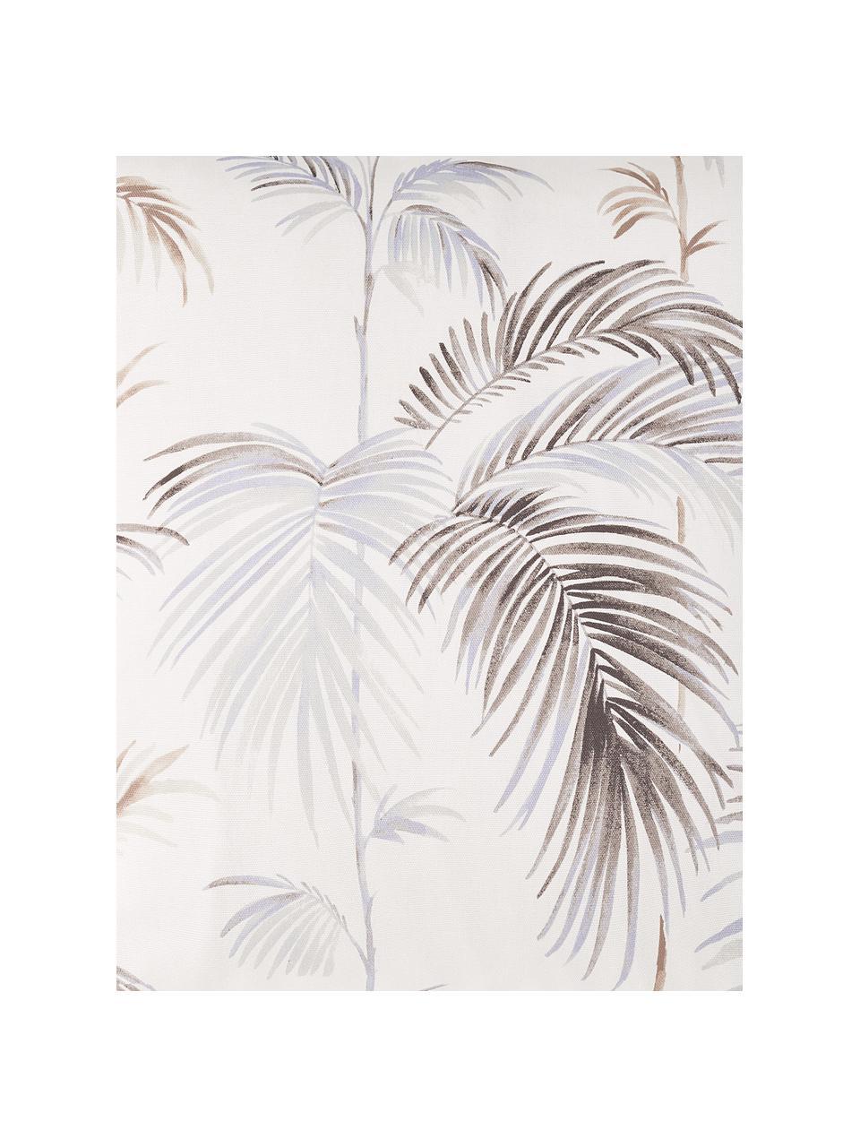 Federa arredo con motivo tropicale Sahara, 100% cotone, Bianco, marrone, azzurro, Larg. 40 x Lung. 40 cm