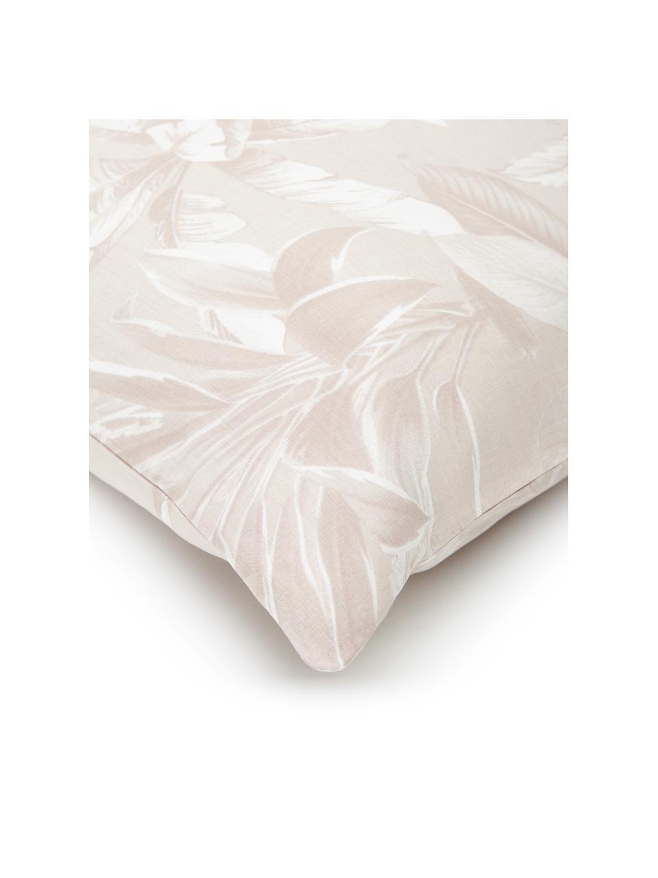 Baumwoll-Bettwäsche Shanida in Rosa/Cremeweiß, Webart: Renforcé Fadendichte 144 , Rosa, 135 x 200 cm + 1 Kissen