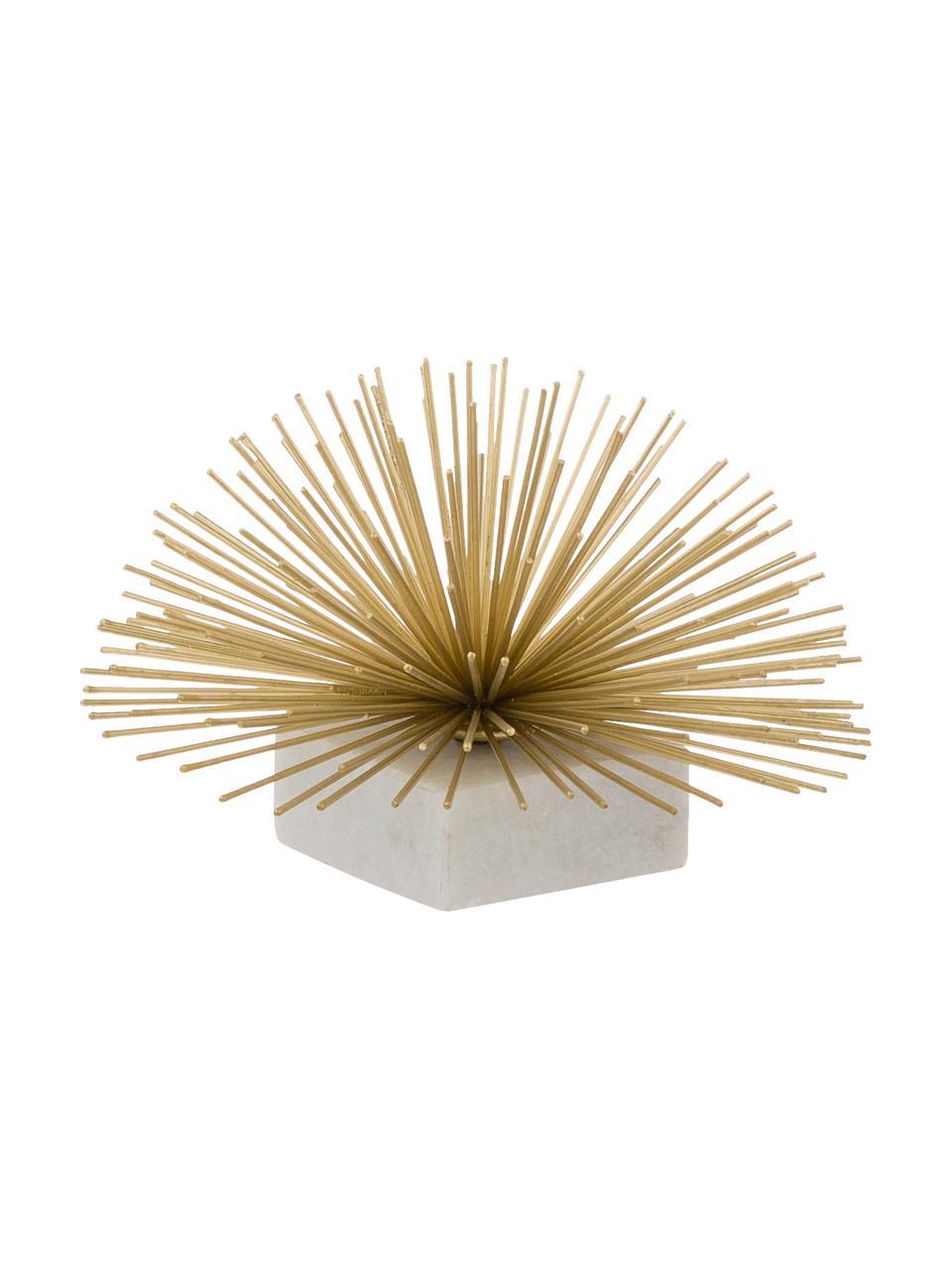 Dekoracja Marburch, Nogi: marmur, Nasada: odcienie złotego Podstawa: jasny marmur, Ø 16 x W 11 cm