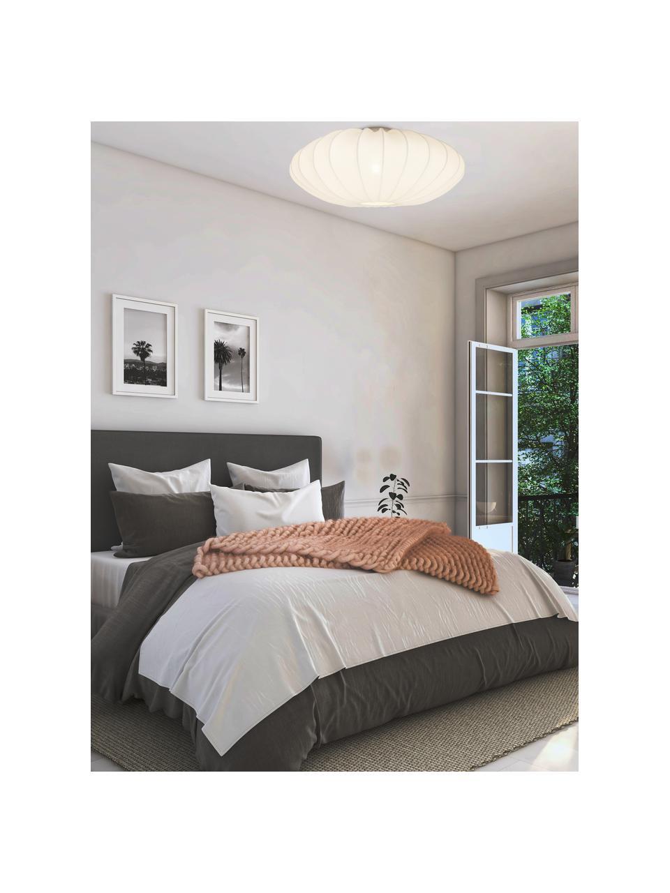 Lampa sufitowa z tkaniny Mamsell, Biały, Ø 55 x W 28 cm