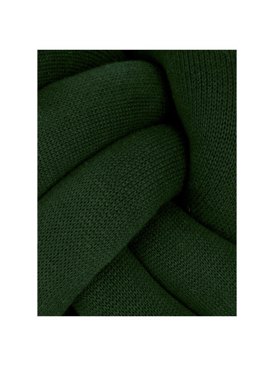 Coussin nœud vert foncé Twist, Vert foncé