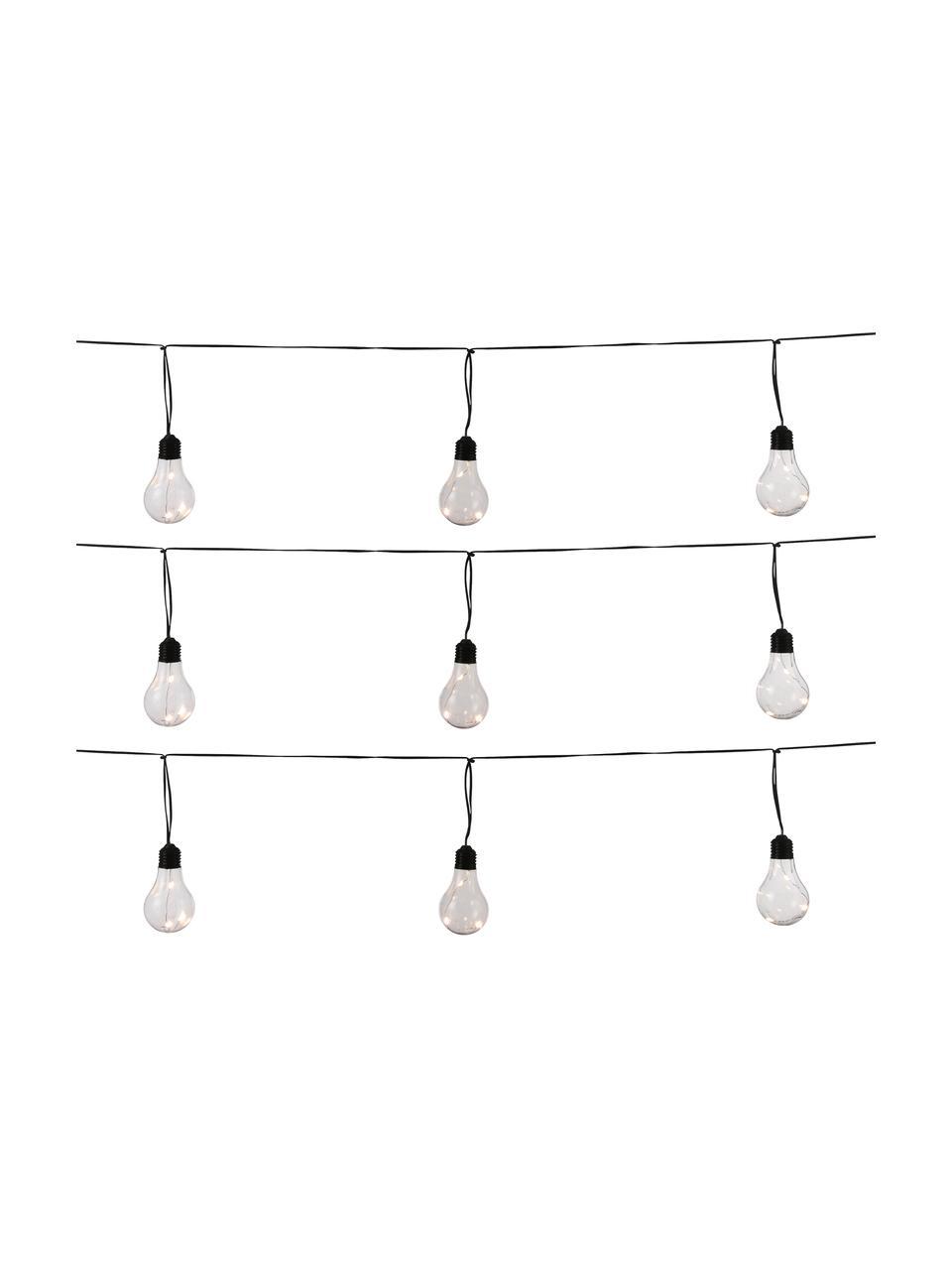 LED-Lichterkette Partytime, 800 cm, 10 Lampions, Lampions: Kunststoff, Schwarz, Transparent, L 800 cm