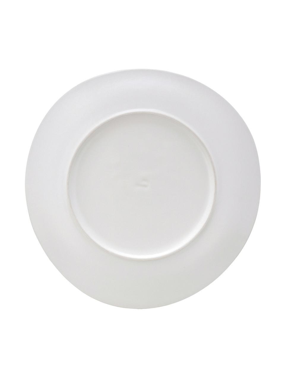 Ręcznie wykonany talerz duży Sandvig, 4 szt., Porcelana farbowana, Złamana biel, Ø 27 cm