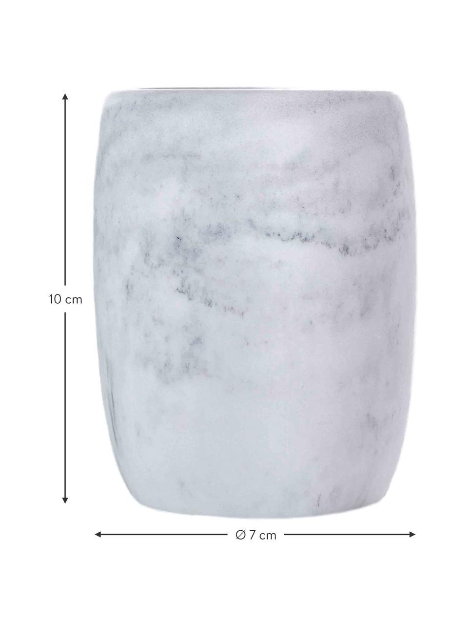 Vaso cepillo de dientes Marblis, Poliresina, Blanco, Ø 7 x Al 10 cm