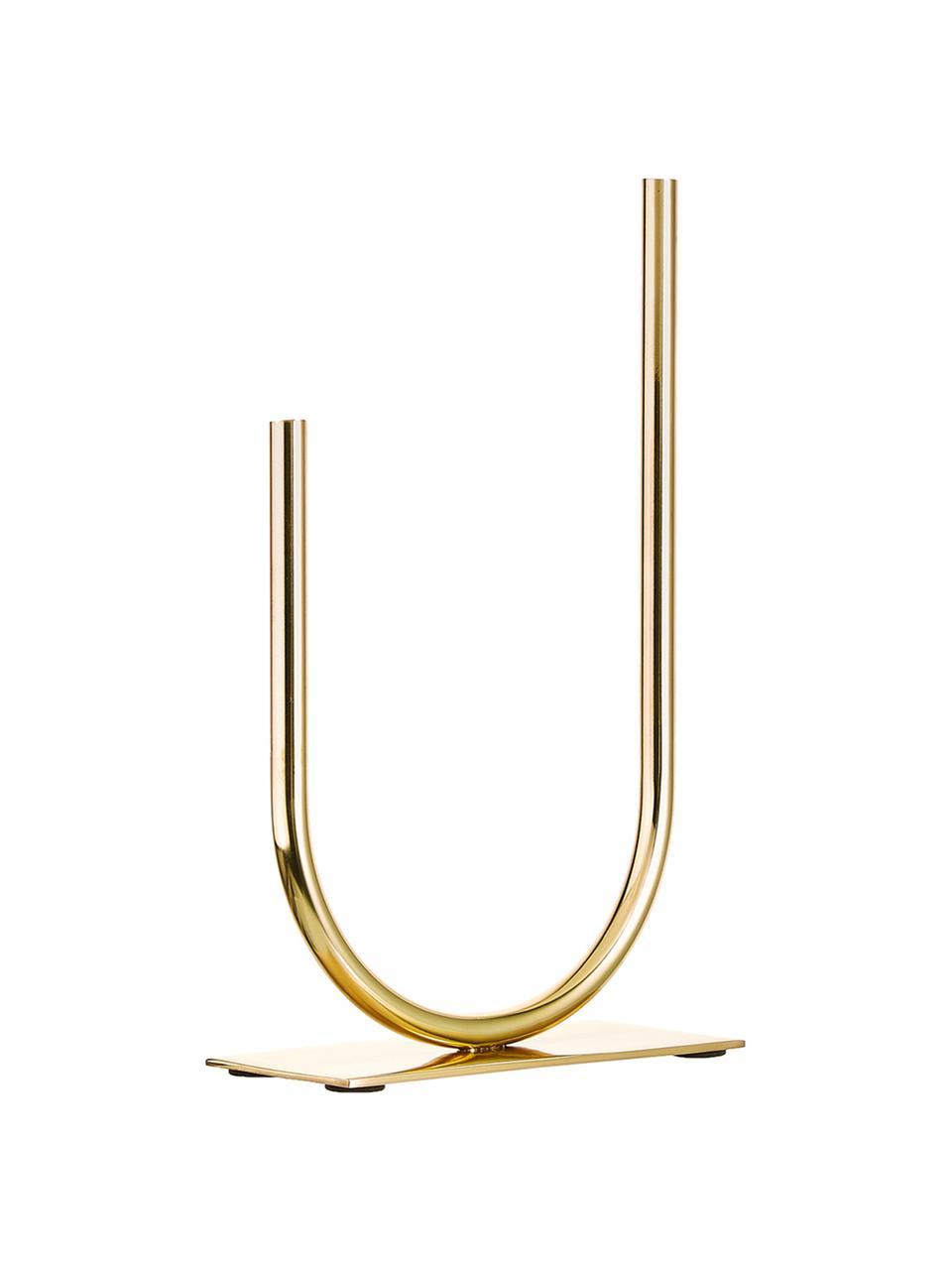 Decoratief object Circle U, Metaal, Goudkleurig, 19 x 30 cm