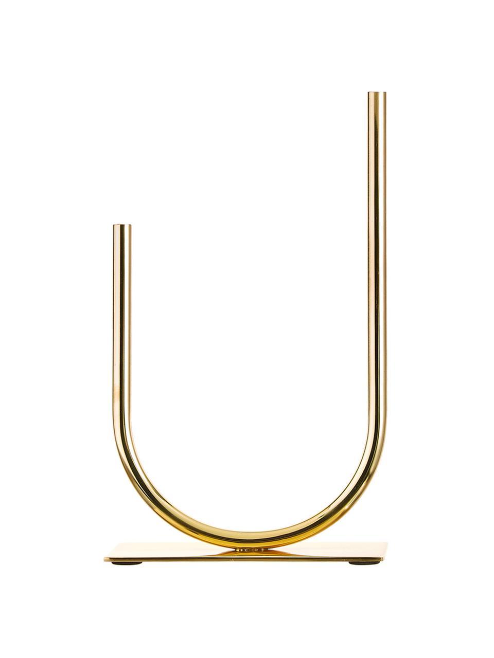 Dekoracja Circle U, Metal, Odcienie złotego, S 19 x W 30 cm