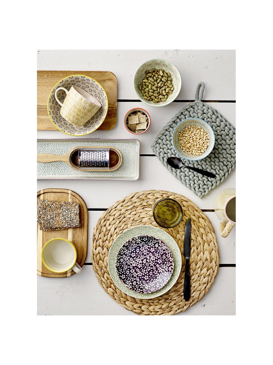 Küchenreiben-Set Acci aus Akazienholz und Edelstahl, 2-tlg., Reibe: Edelstahl, Auffangbehälter: Akazienholz, Akazienholz, Edelstahl, B 25 x T 7 cm