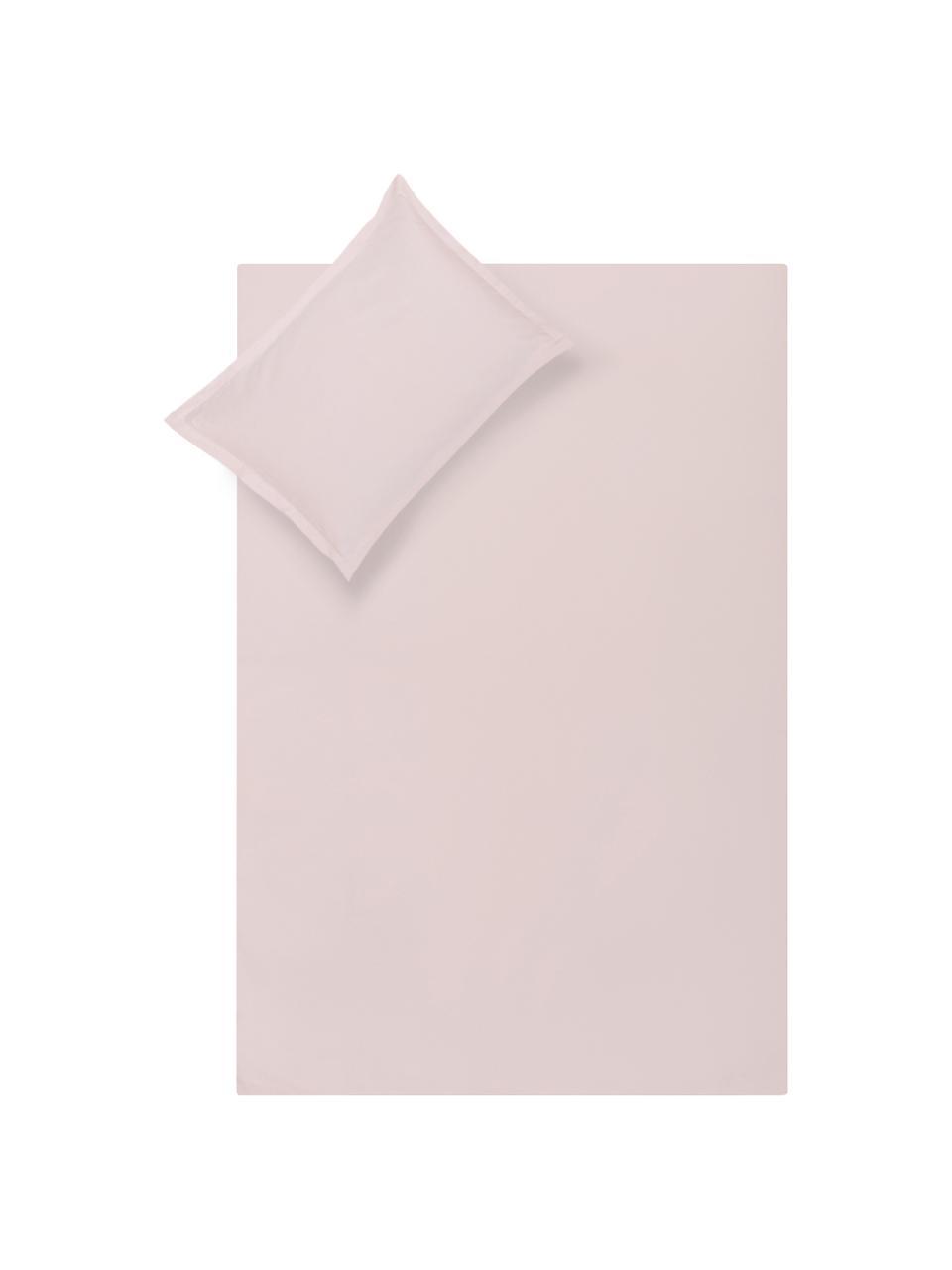 Parure copripiumino in raso di cotone rosa Premium, Rosa, 155 x 200 cm