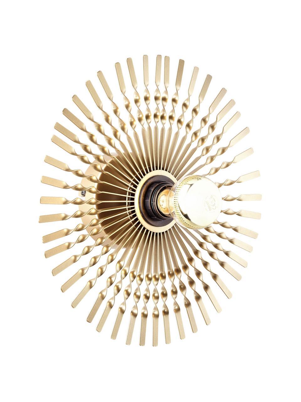 Applique di design ottonata Mendoza, Paralume: metallo rivestito, Ottonato, Ø 33 cm