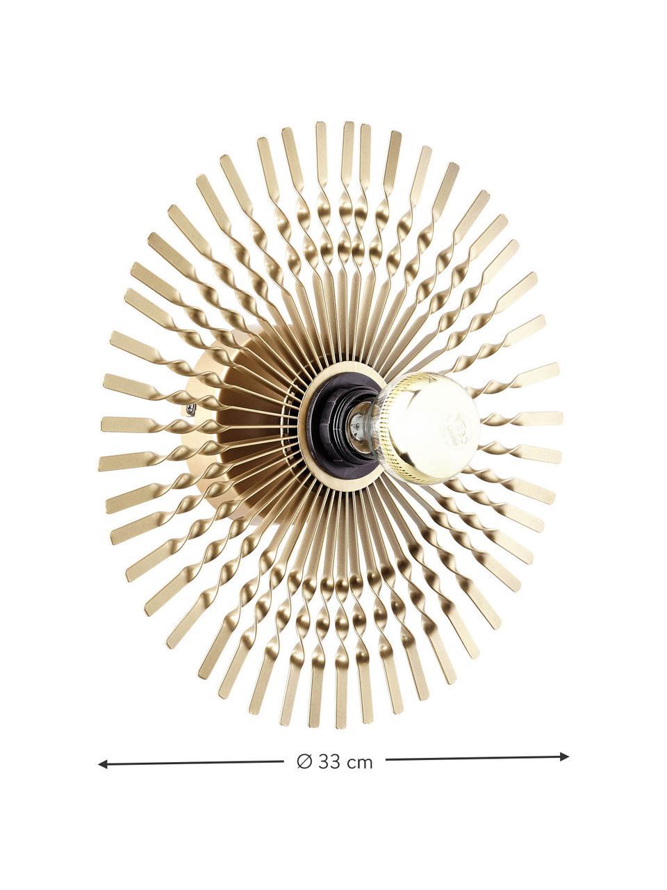 Kinkiet z mosiądzu Mendoza, Odcienie mosiądzu, Ø 33 cm