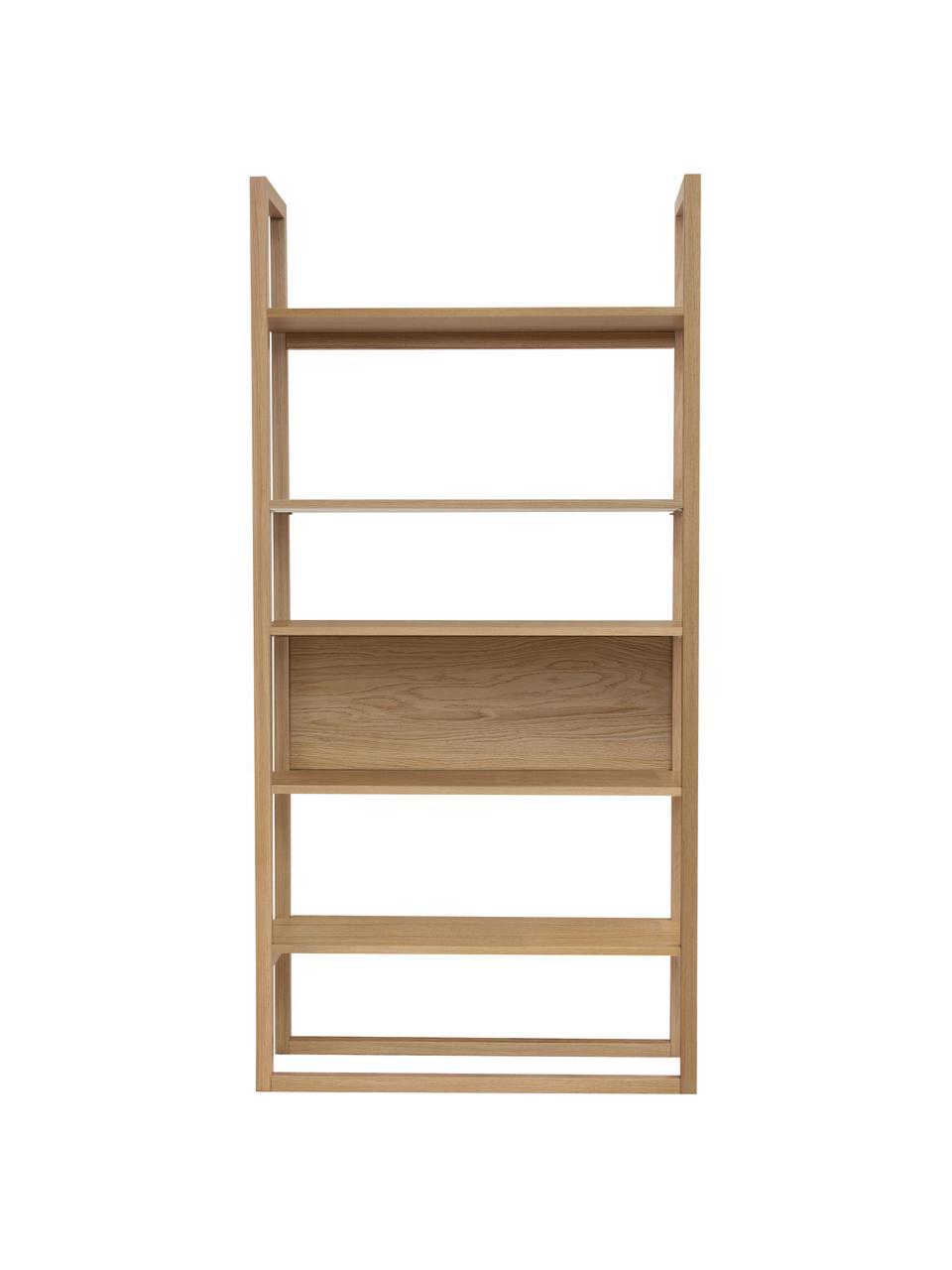 Libreria in legno di quercia NewEst, Ripiani: truciolato rovere impiall, Quercia, Larg. 90 x Alt. 185 cm