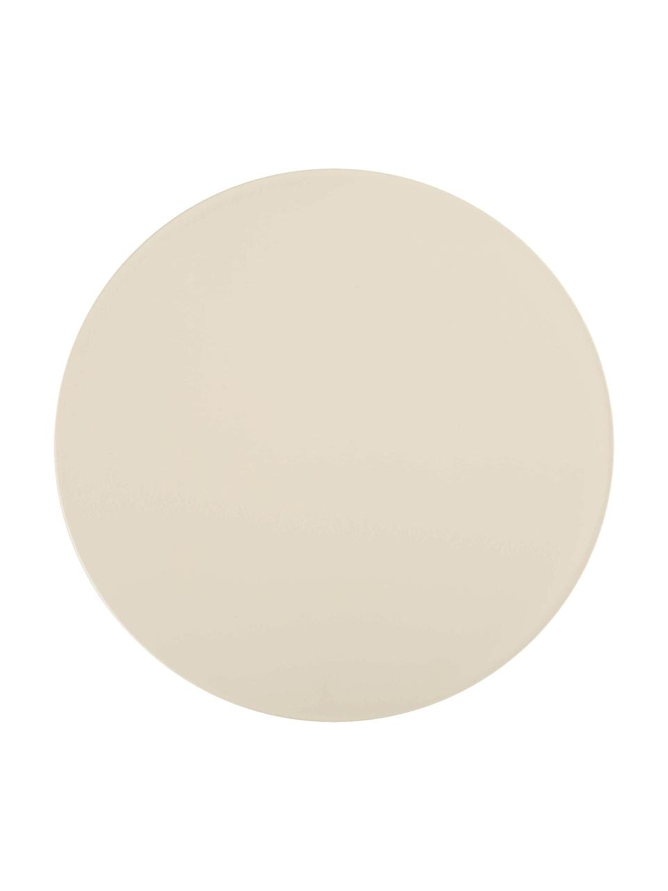 Design Hocker/ Beistelltisch Prince AHA, Durchpigmentiertes Polypropylen, Creme, Ø 30 x H 43 cm