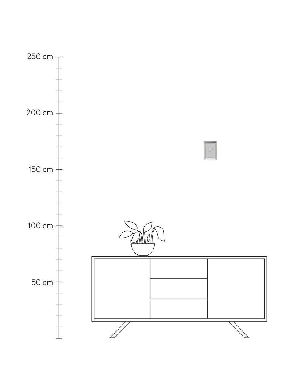 Bilderrahmen Austin, Rahmen: Stahl, beschichtet, Front: Glas, Silberfarben, 10 x 15 cm