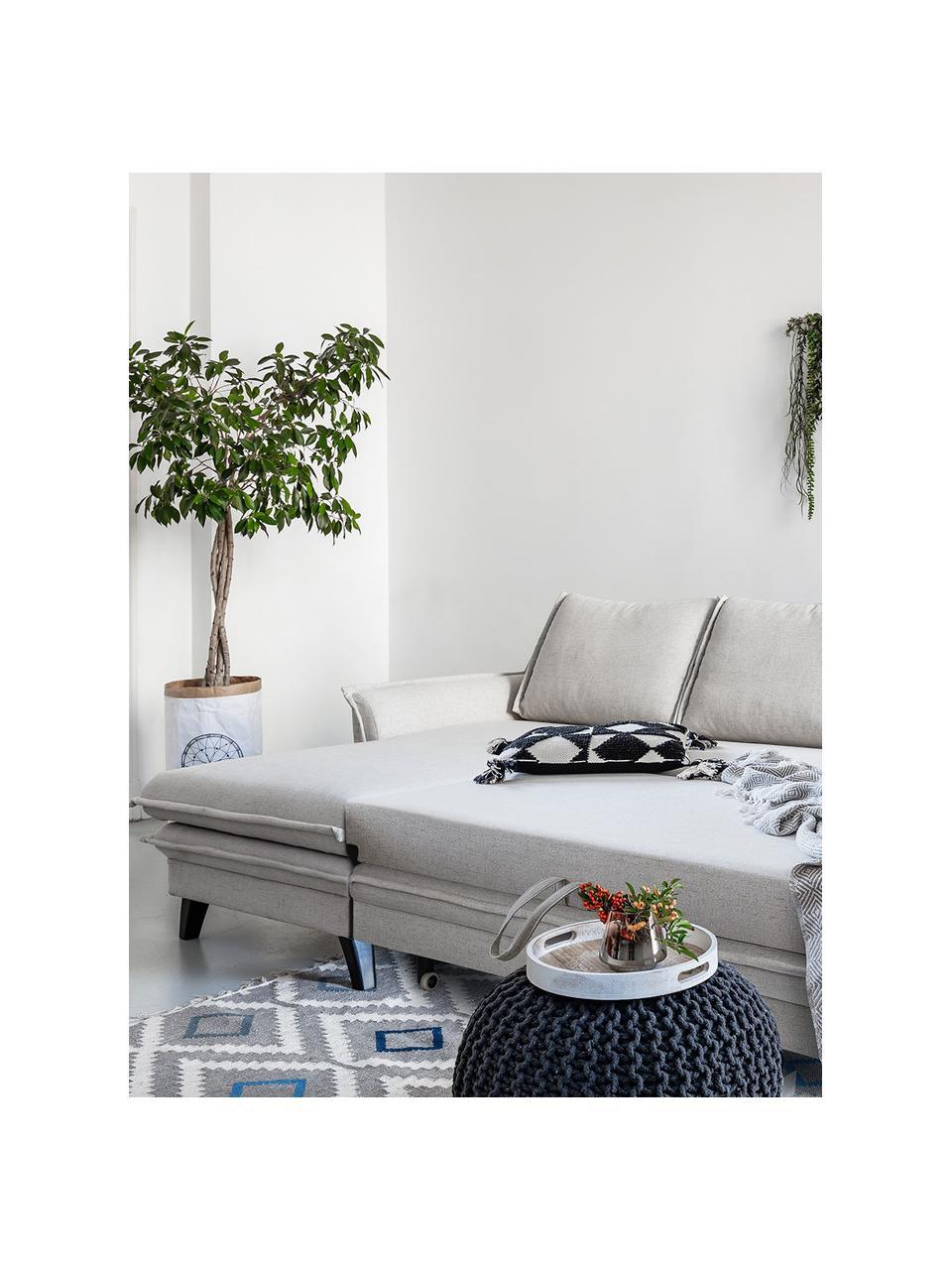 Sofá cama rinconero Charming Charlie, con espacio de almacenamiento, Tapizado: 100%poliéster tacto de l, Estructura: madera, aglomerado, Beige, An 228 x F 150 cm