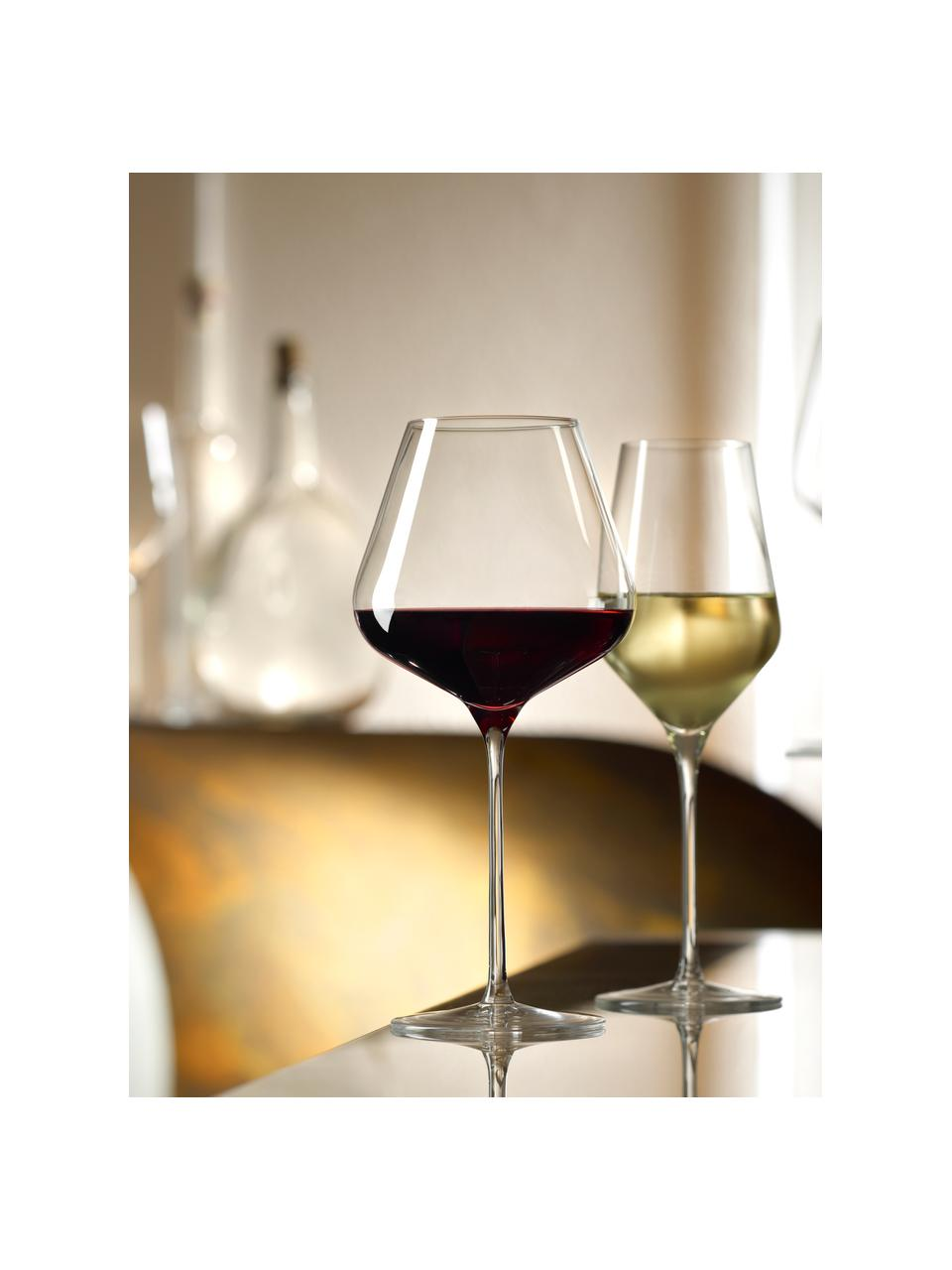 Kieliszek do białego wina ze szkła kryształowego Quatrophil, 6 szt., Szkło kryształowe, Transparentny, Ø 8 x W 25 cm