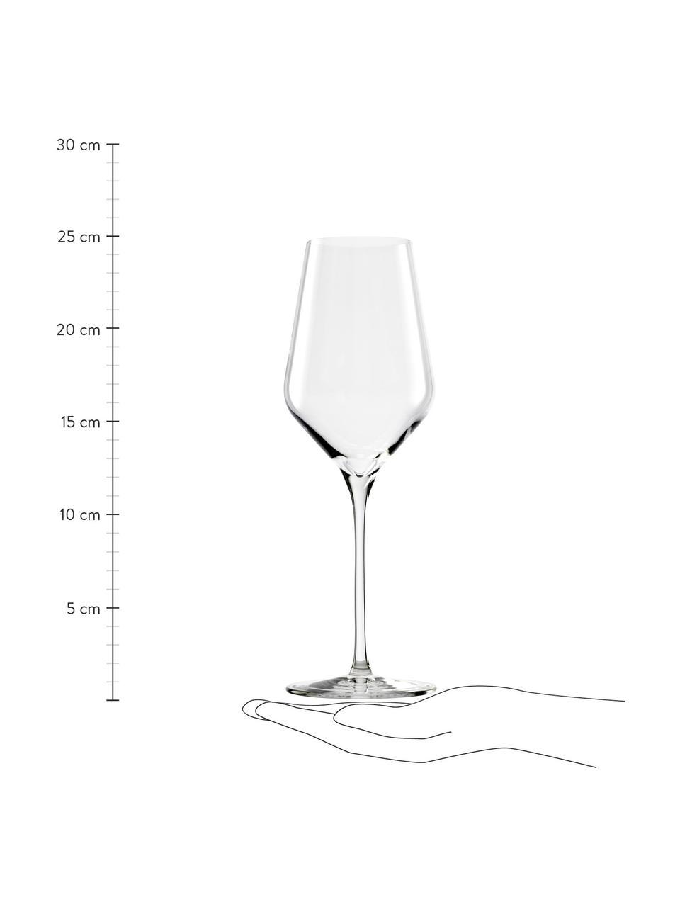 Bicchiere vino bianco in cristallo Quatrophil 6 pz, Cristallo, Trasparente, Ø 8 x Alt. 25 cm