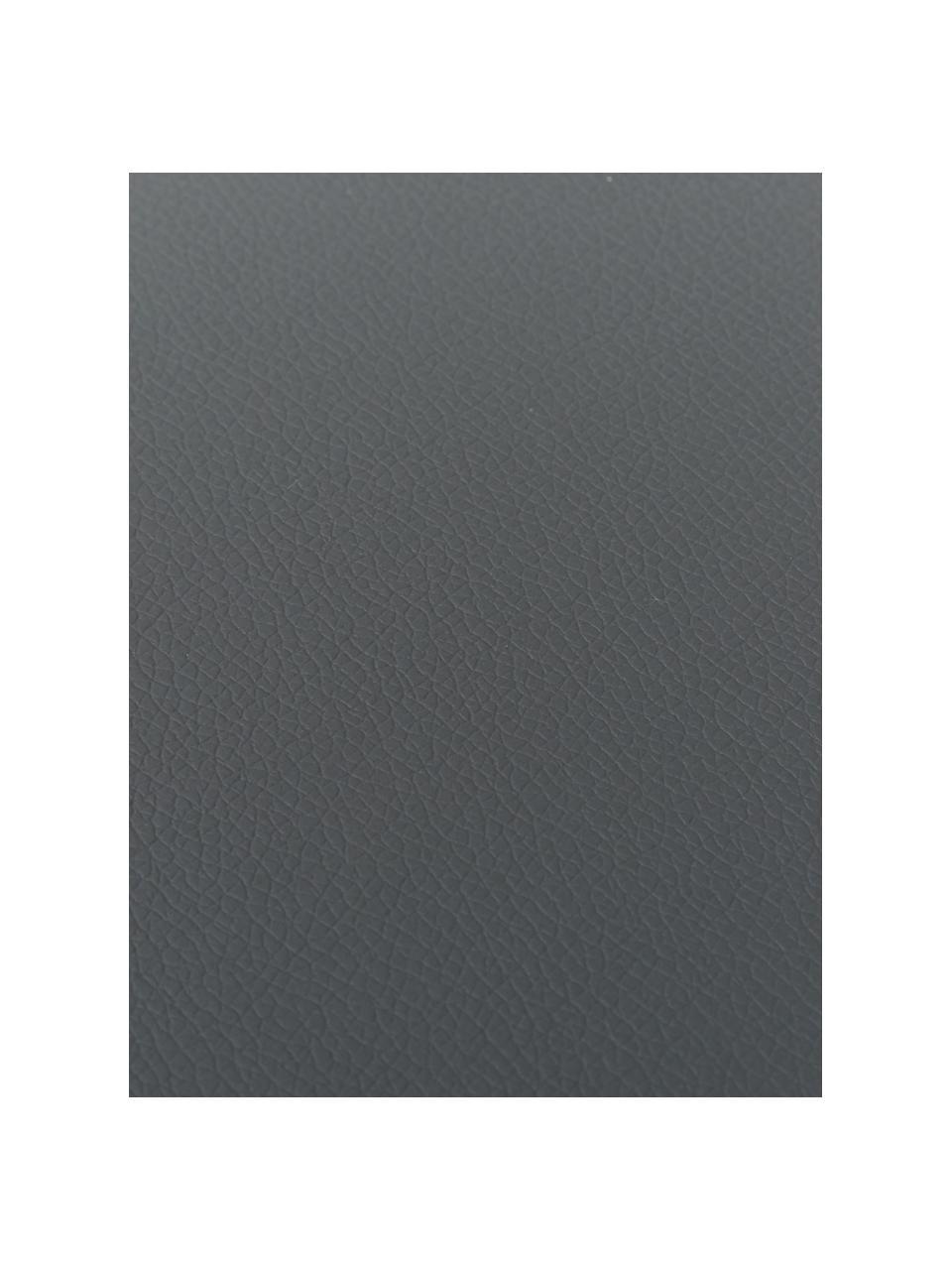 Podkładka ze sztucznej skóry Pik, 2 szt., Sztuczna skóra (PVC), Antracytowy, S 33 x D 46 cm