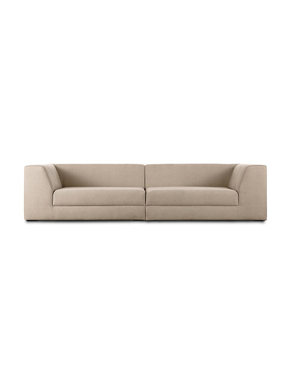 Canapé modulable 3 places taupe Grant, Tissu taupe
