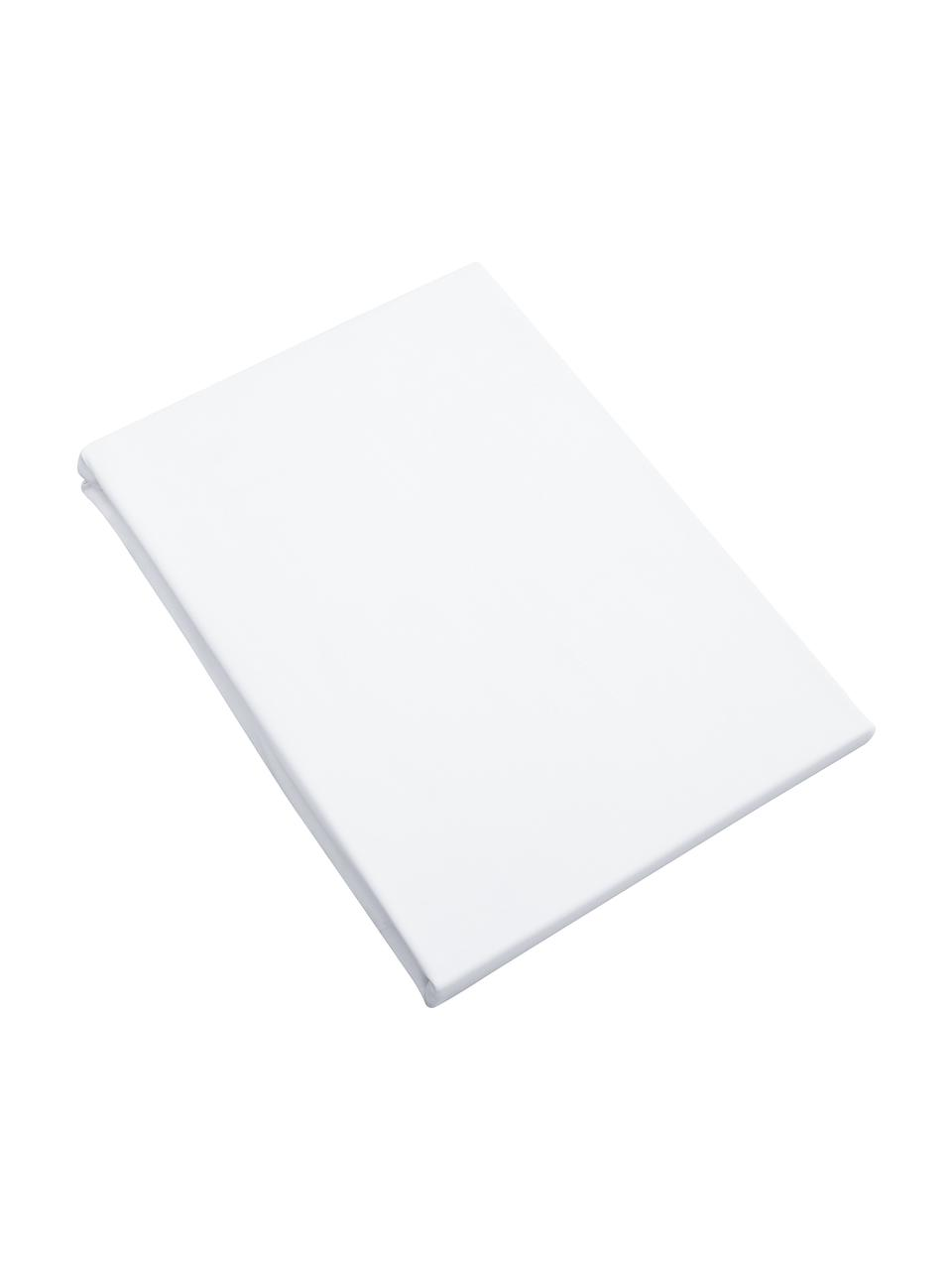Hoeslaken Premium van biokatoen in wit, satijn, Weeftechniek: satijn Draaddichtheid 400, Wit, 180 x 200 cm