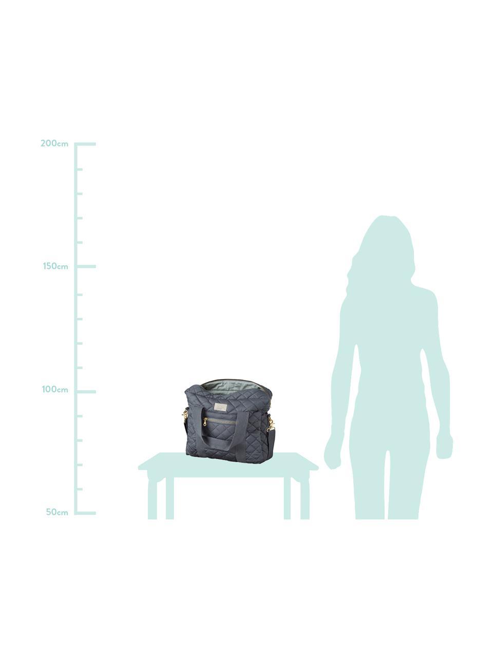 Torba dla mamy z bawełny organicznej Camila, Szary, S 39 x W 31 cm