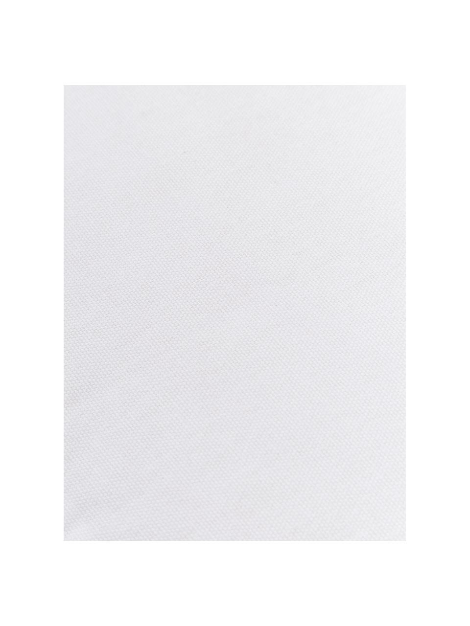 Hohes Sitzkissen Zoey in Weiß, Bezug: 100% Baumwolle, Weiß, 40 x 40 cm