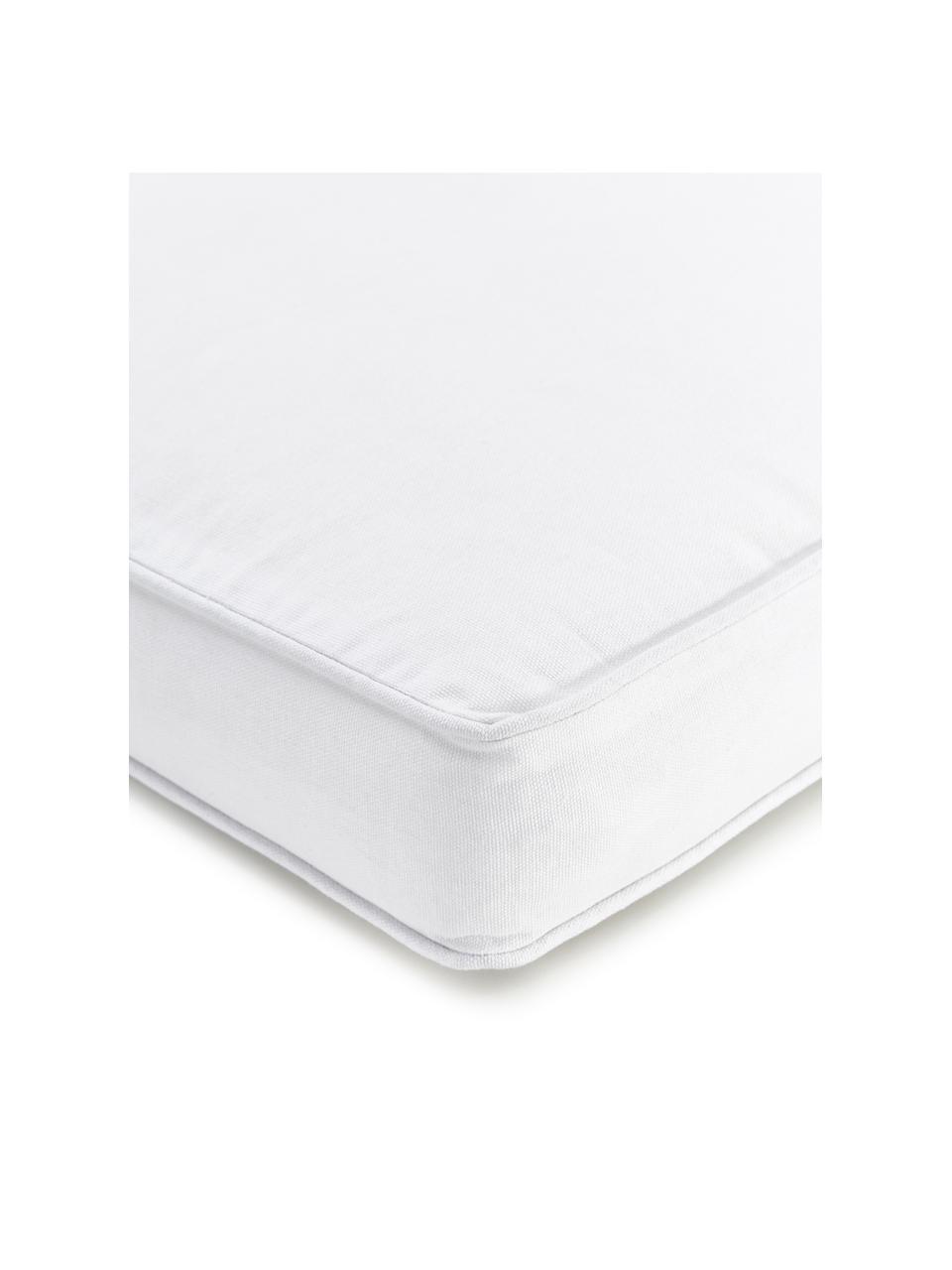 Cuscino sedia alto bianco Zoey, Rivestimento: 100% cotone, Bianco, Larg. 40 x Lung. 40 cm