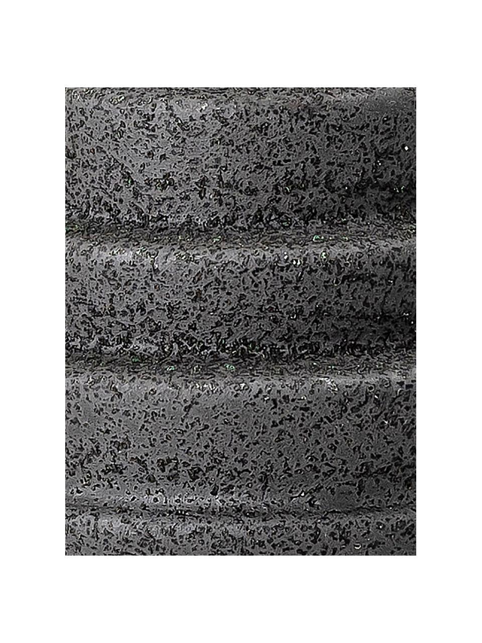 Kandelaar Karalie, Keramiek, Zwart, Ø 7 cm