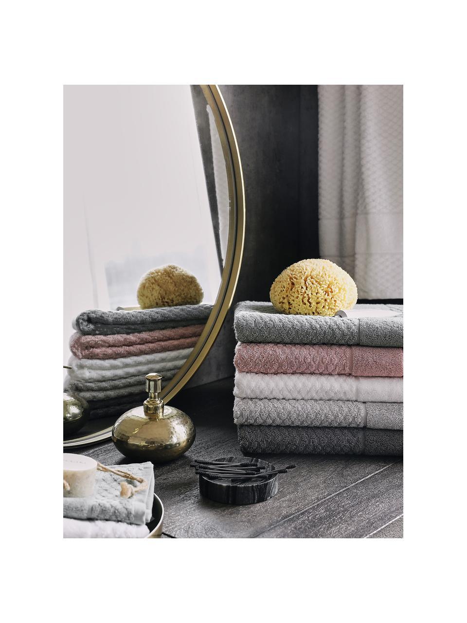 Handtuch Katharina in verschiedenen Größen, mit Wabenmuster, Altrosa, Handtuch