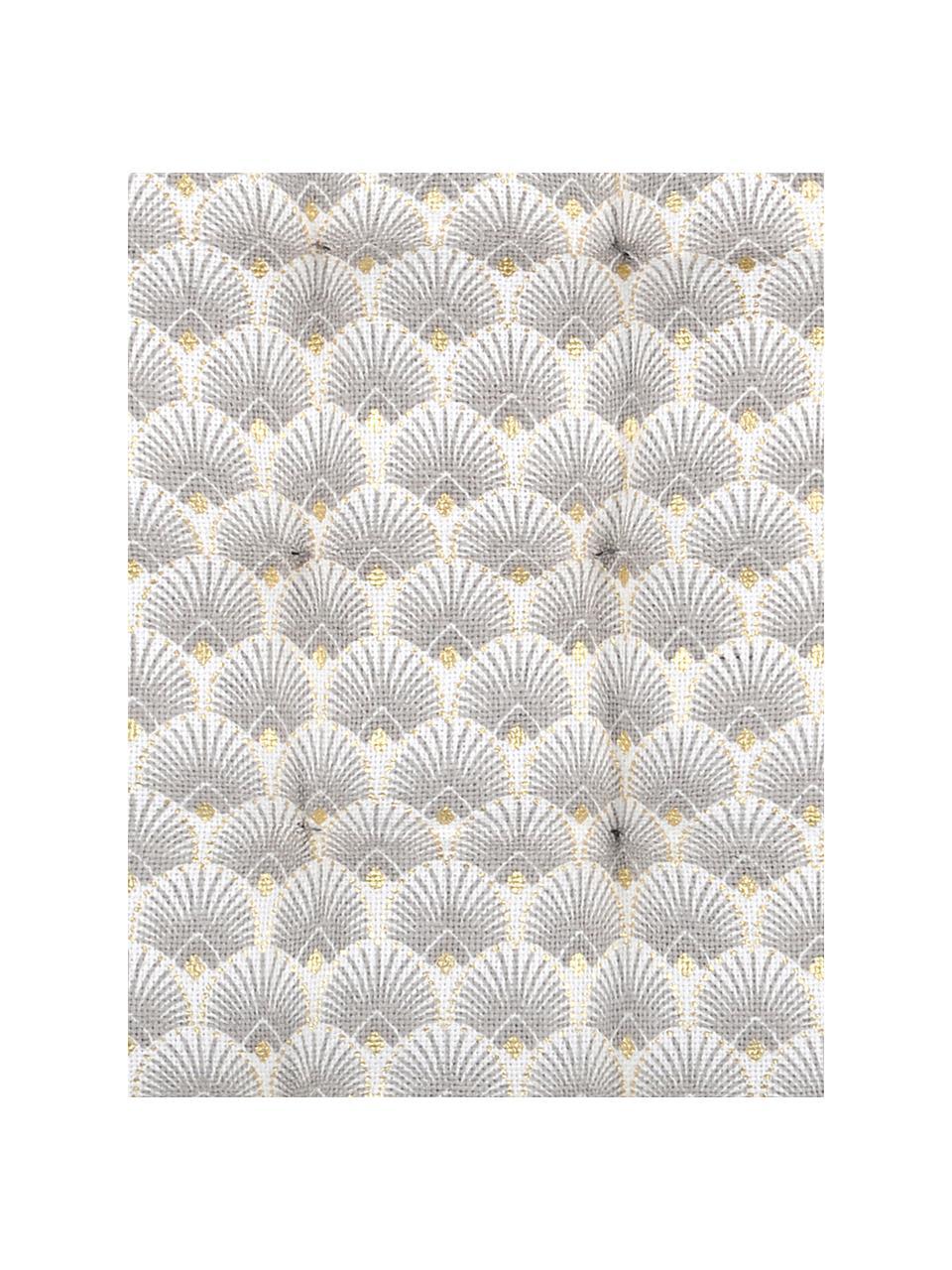 Sitzauflage Corosol, 100% Baumwolle, Grau, Gold, 40 x 40 cm
