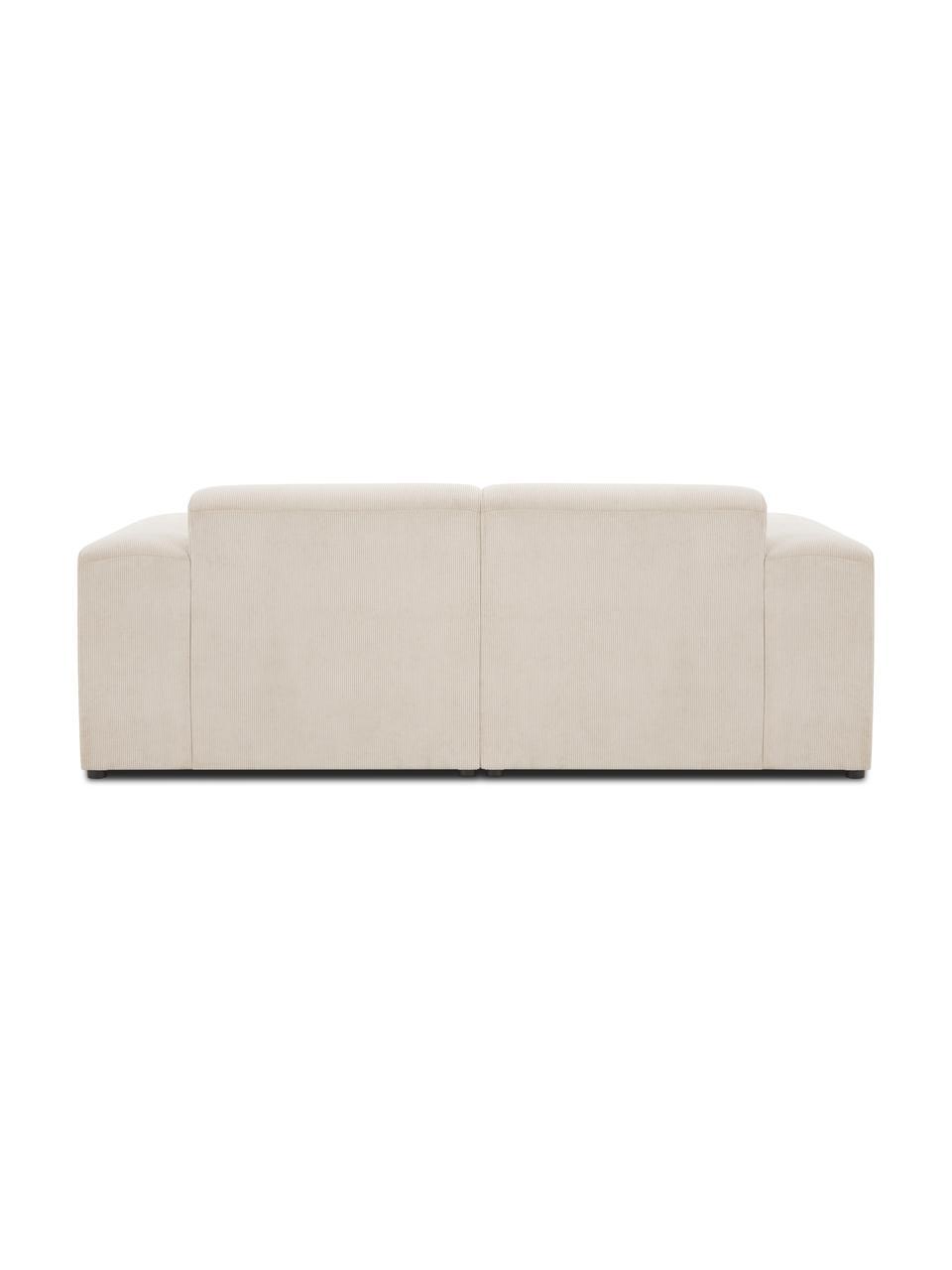 Cord-Sofa Melva (2-Sitzer) in Beige, Bezug: Cord (92% Polyester, 8% P, Gestell: Massives Kiefernholz, FSC, Füße: Kunststoff, Cord Beige, B 198 x T 101 cm