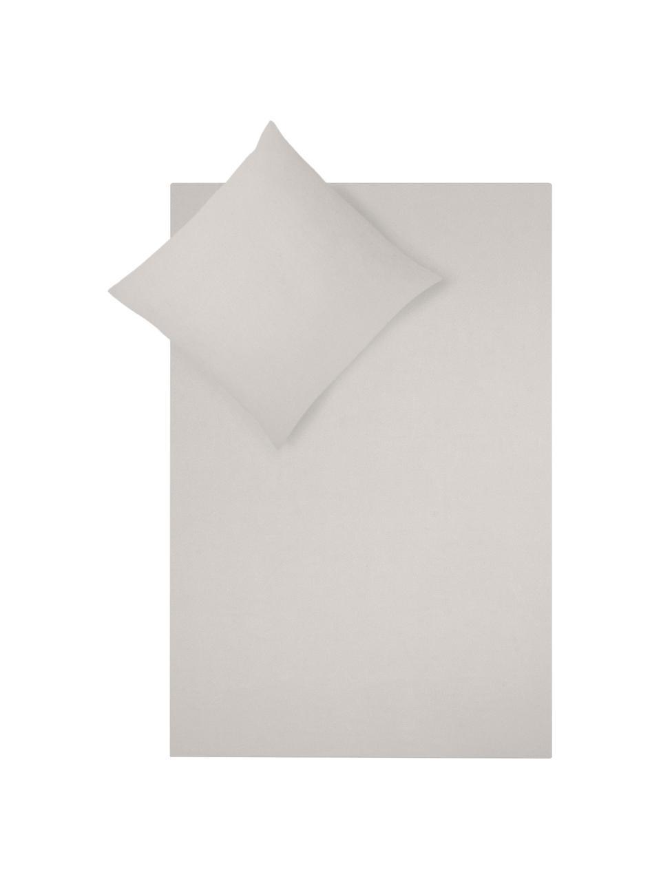 Pościel z flaneli Biba, Taupe, 240 x 220 cm + 2 poduszki 80 x 80 cm