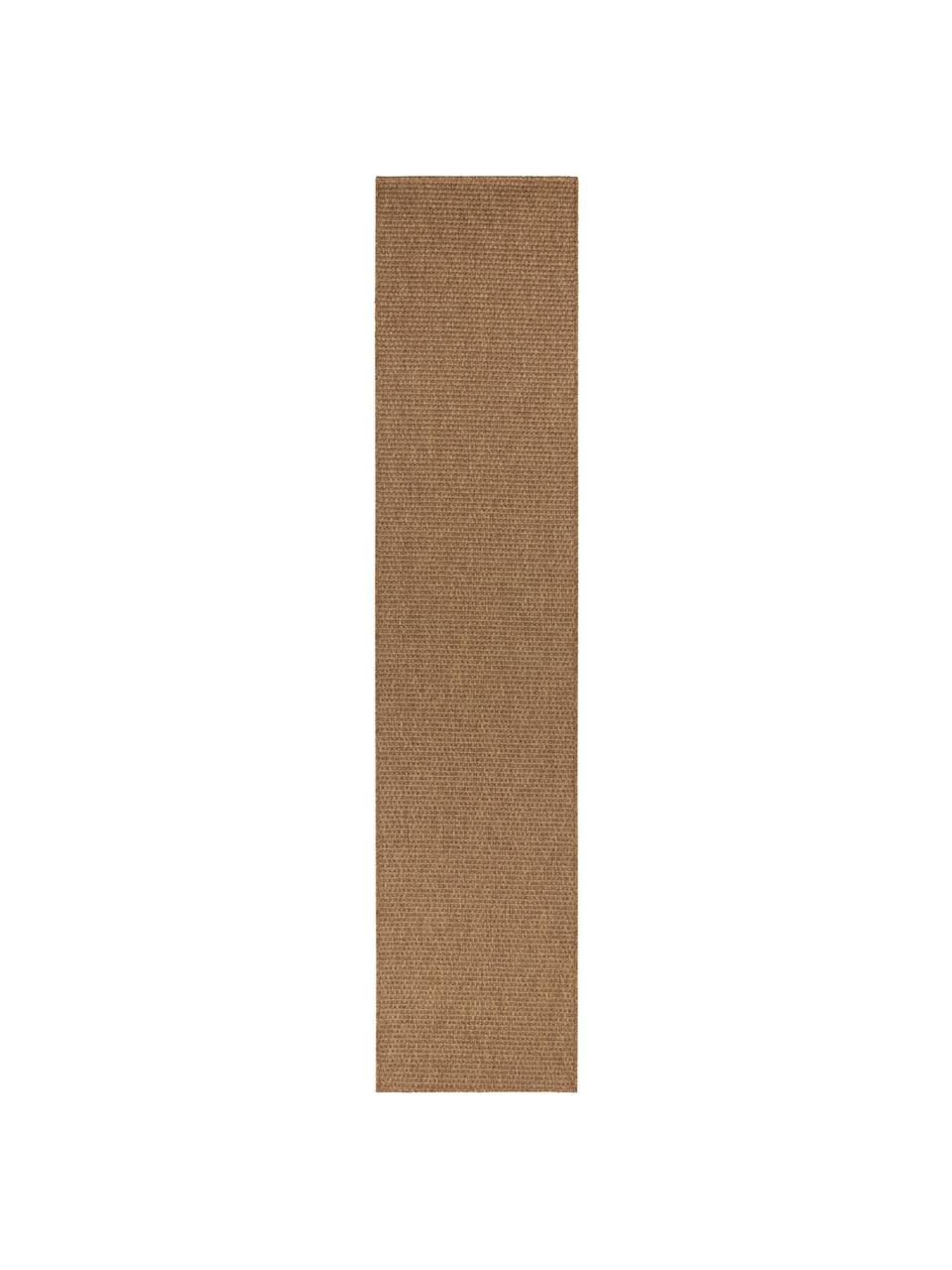 In- & Outdoor-Läufer Nala in Sisal-Optik, 100% Polypropylen, Braun, 80 x 500 cm