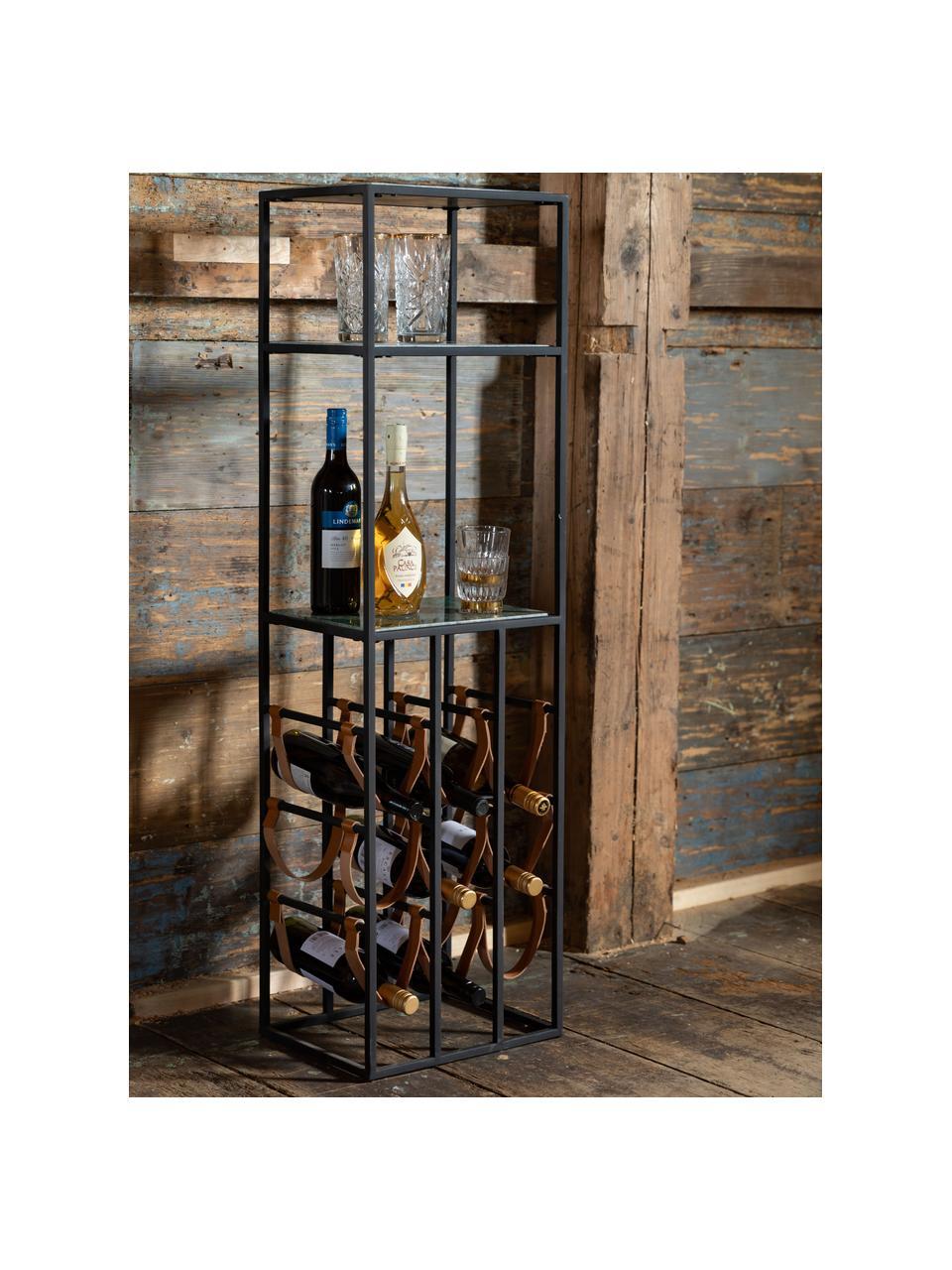 Casier à vin en marbre pour 9 bouteilles Mil, Noir, vert
