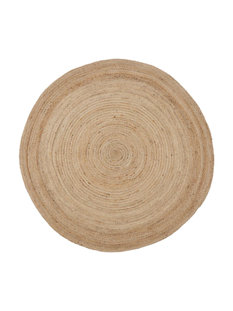 Alfombra redonda de yute Ural, 100%yute, Beige, Ø 150 cm (Tamaño M)