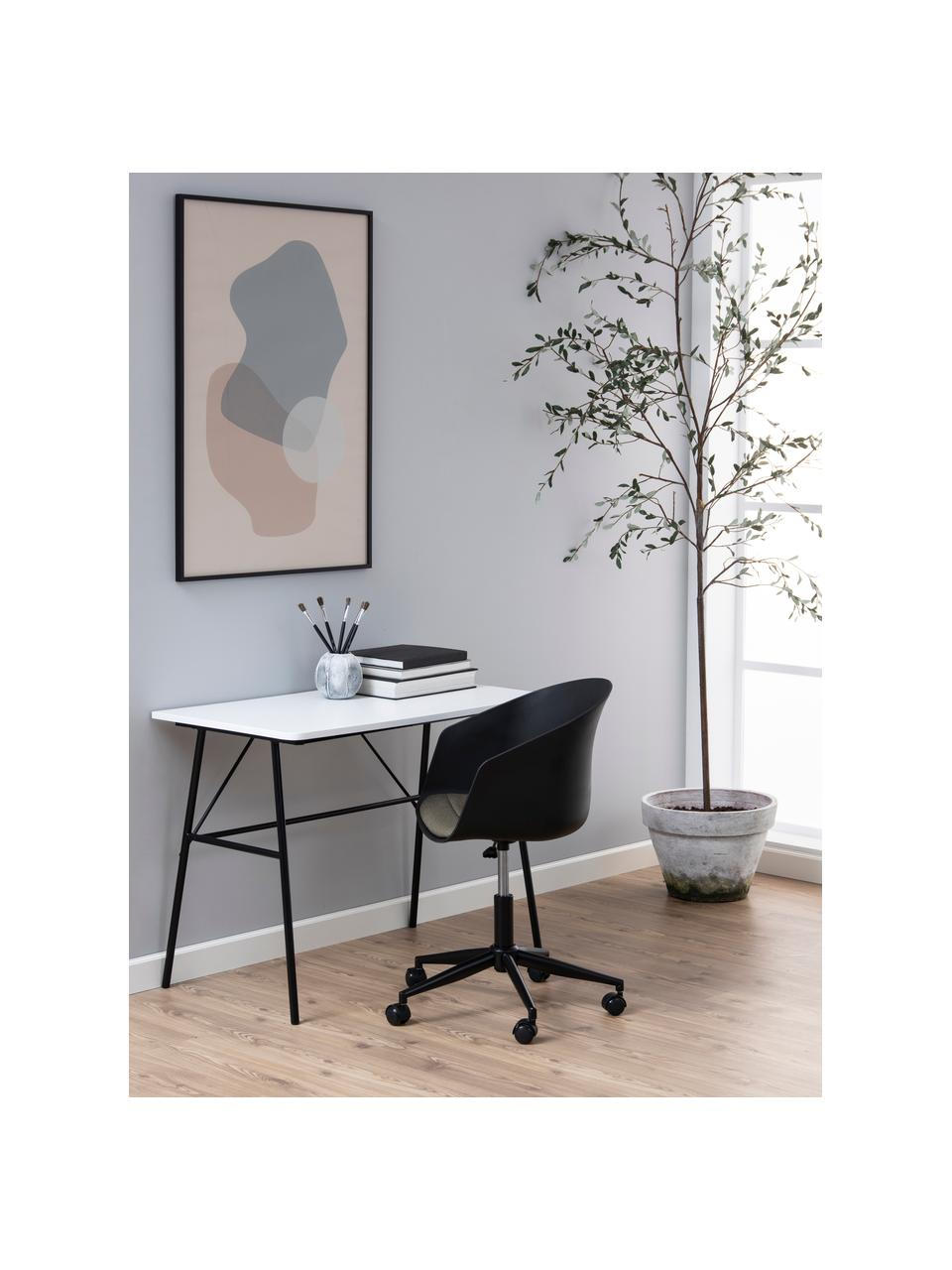 Biurowe krzesło obrotowe Moon, Nogi: metal mosi, Stelaż: metal malowany proszkowo, Czarny, ciemnoszary, S 65 x G 65 cm
