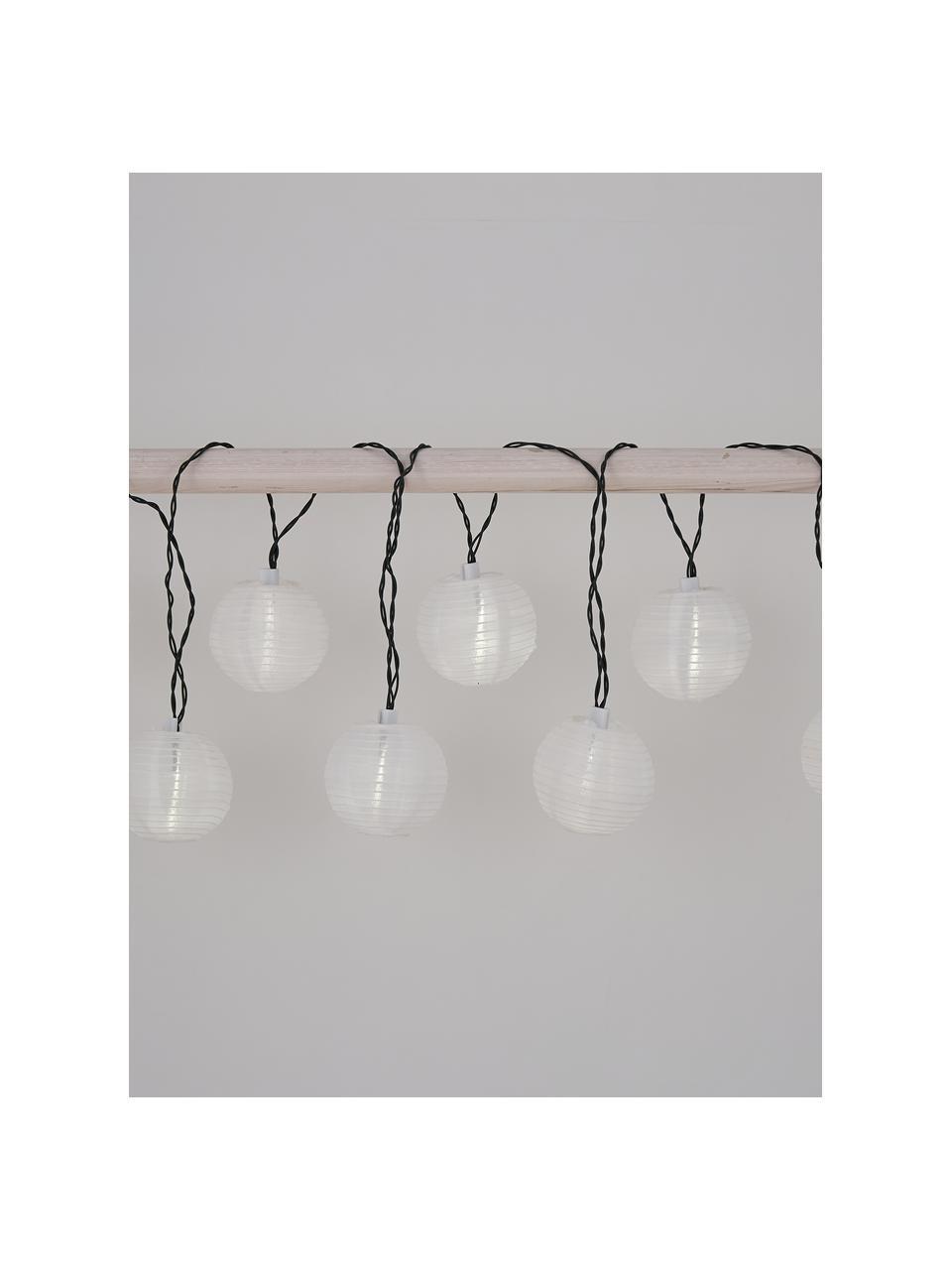 Solar Lichterkette Kosmos, 430 cm, 10 Lampions, Lampions: Reispapier, Schwarz, Weiß, L 430 cm