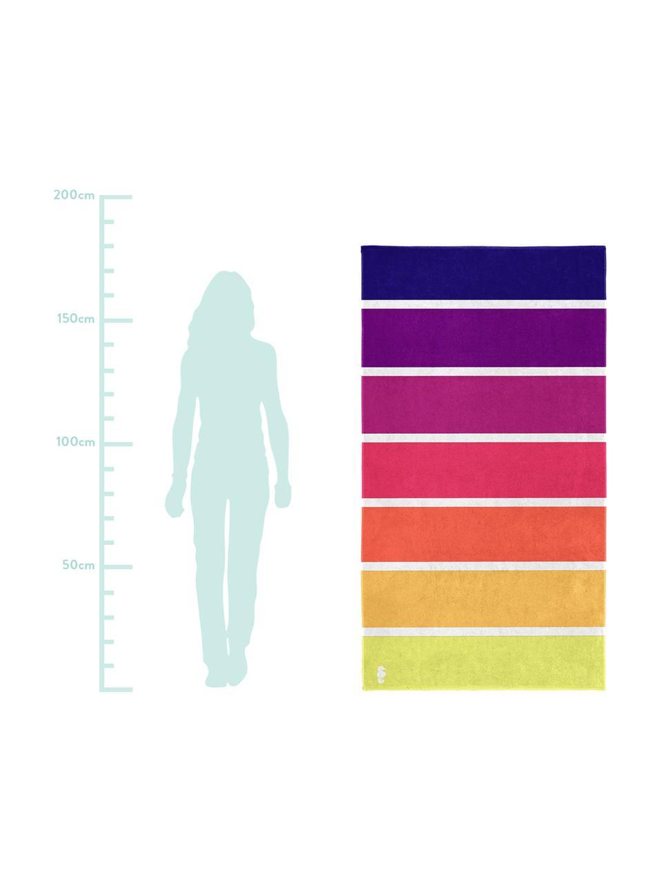 Ręcznik plażowy Marbella, Bawełna, Żółty, pomarańczowy, różowy, purpurowy, fioletowy, S 100 x D 180 cm
