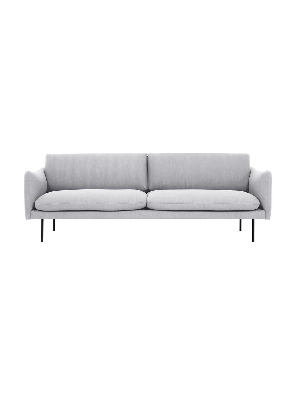 Canapé 3places gris clair Moby, Tissu gris clair