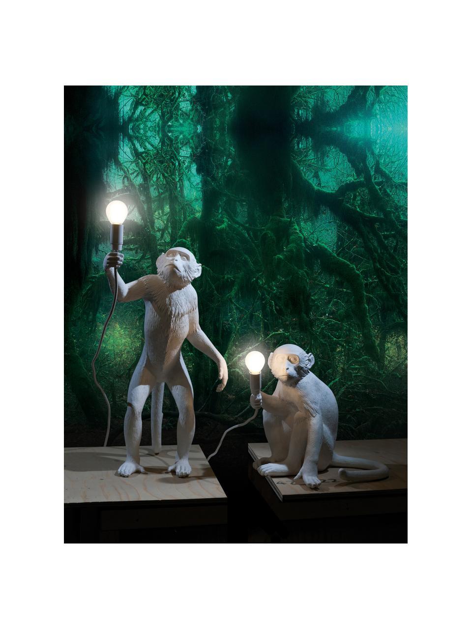Designová stolní lampa Monkey, Bílá