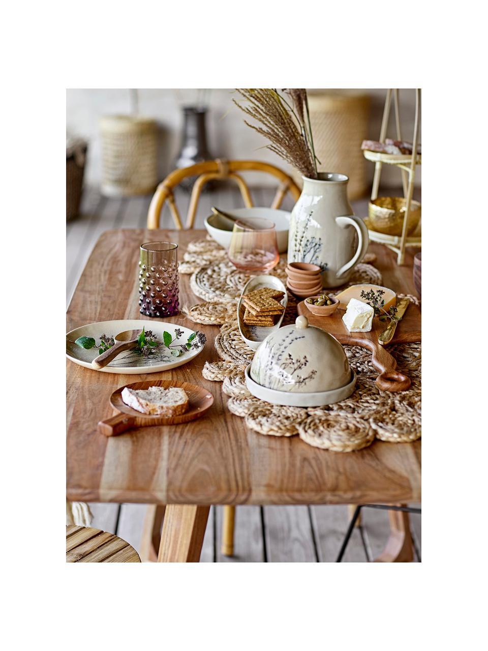 Carafe rustique grès faite main Bea,1.5 L, Beige