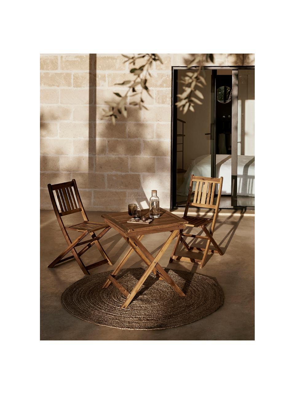 Gartenmöbel Set Skyler aus Akazienholz, 3-tlg., Braun, Sondergrößen