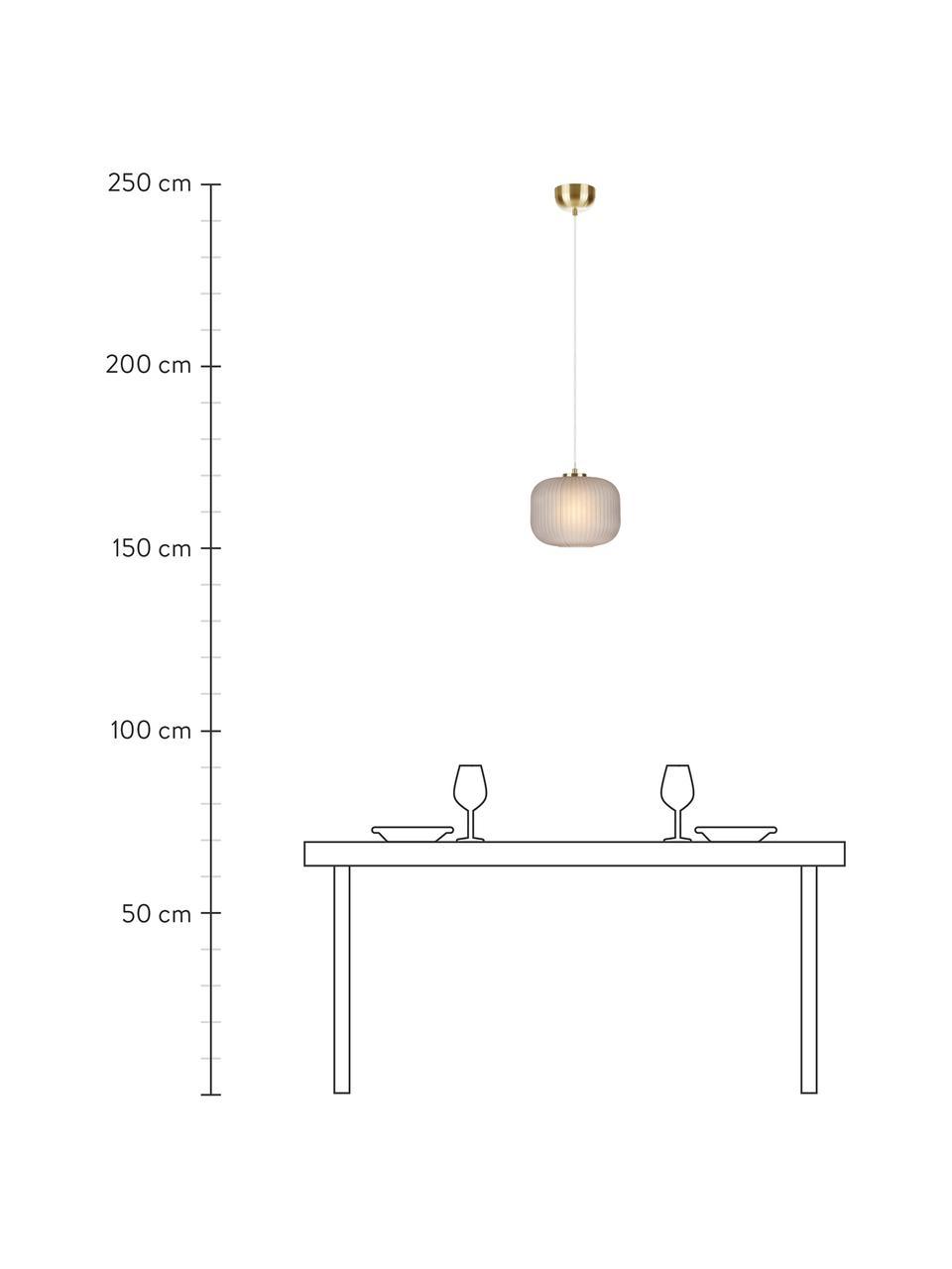 Lampa wisząca ze szklanym kloszem Sober, Szary, Ø 25 x W 22 cm