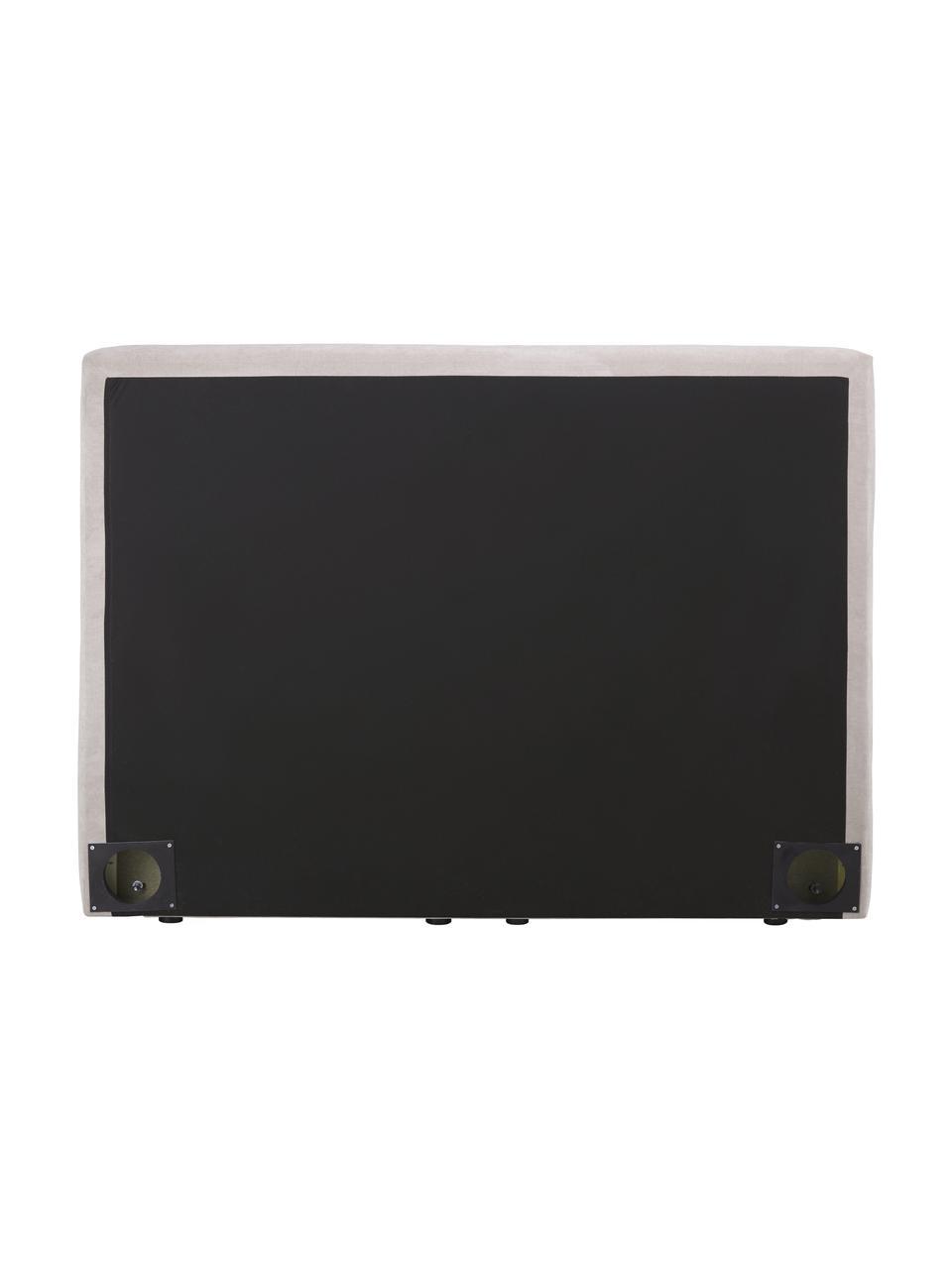 Boxspringbett Oberon in dunklem Beige, Matratze: 5-Zonen-Taschenfederkern, Füße: Kunststoff, Webstoff Dunkles Beige, 200 x 200 cm