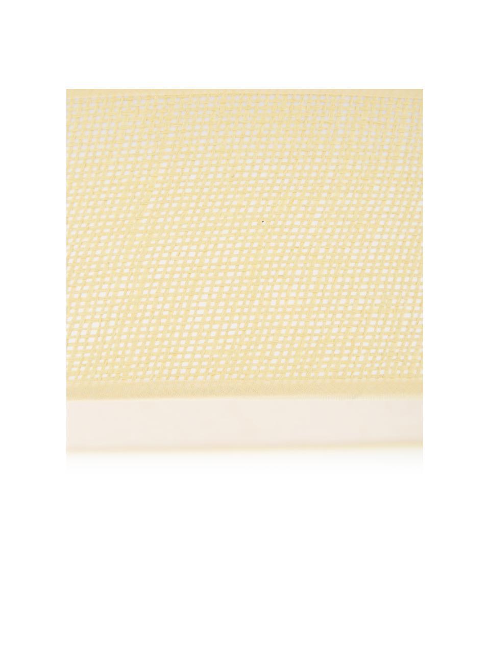 LED plafondlamp Helen Nature, Diffuser: kunststof, Beige, Ø 52 x H 11 cm