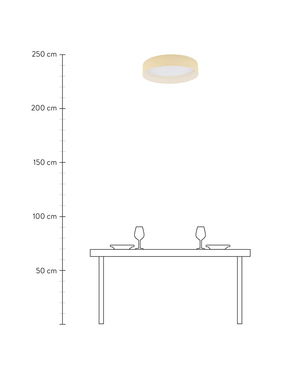 Lampa sufitowa LED Helen Nature, Beżowy, Ø 52 x W 11 cm