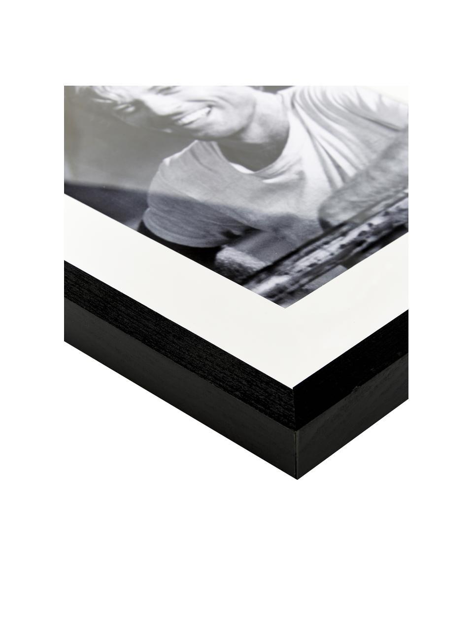 Gerahmter Digitaldruck Robert Redford, Bild: Digitaldruck auf Papier, , Rahmen: Holz, lackiert, Front: Plexiglas, Bild: Schwarz, Weiß Rahmen: Schwarz, 33 x 43 cm
