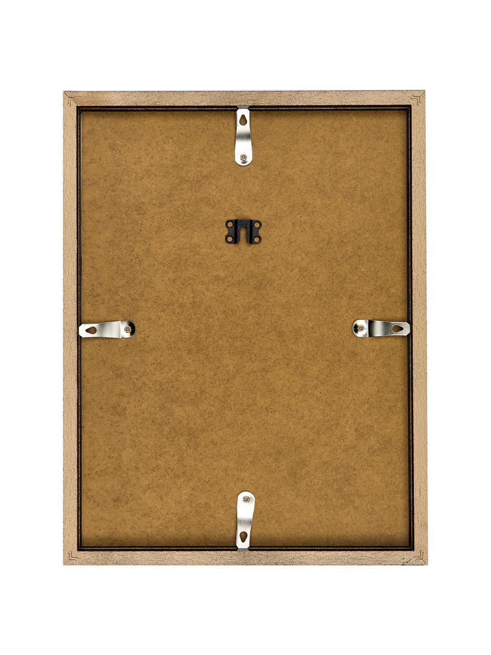 Ingelijste digitale print Robert Redford, Afbeelding: digitale print op papier,, Lijst: gelakt hout, Afbeelding: zwart, wit. Lijst: zwart, 33 x 43 cm
