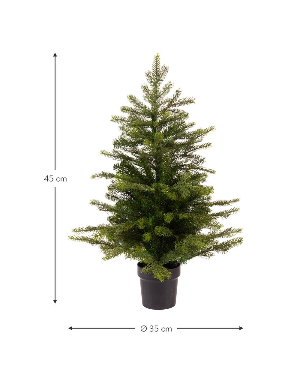 Künstlicher Weihnachtsbaum Grandis, Übertopf: Kunststoff, Grün, Ø 35 x H 45 cm