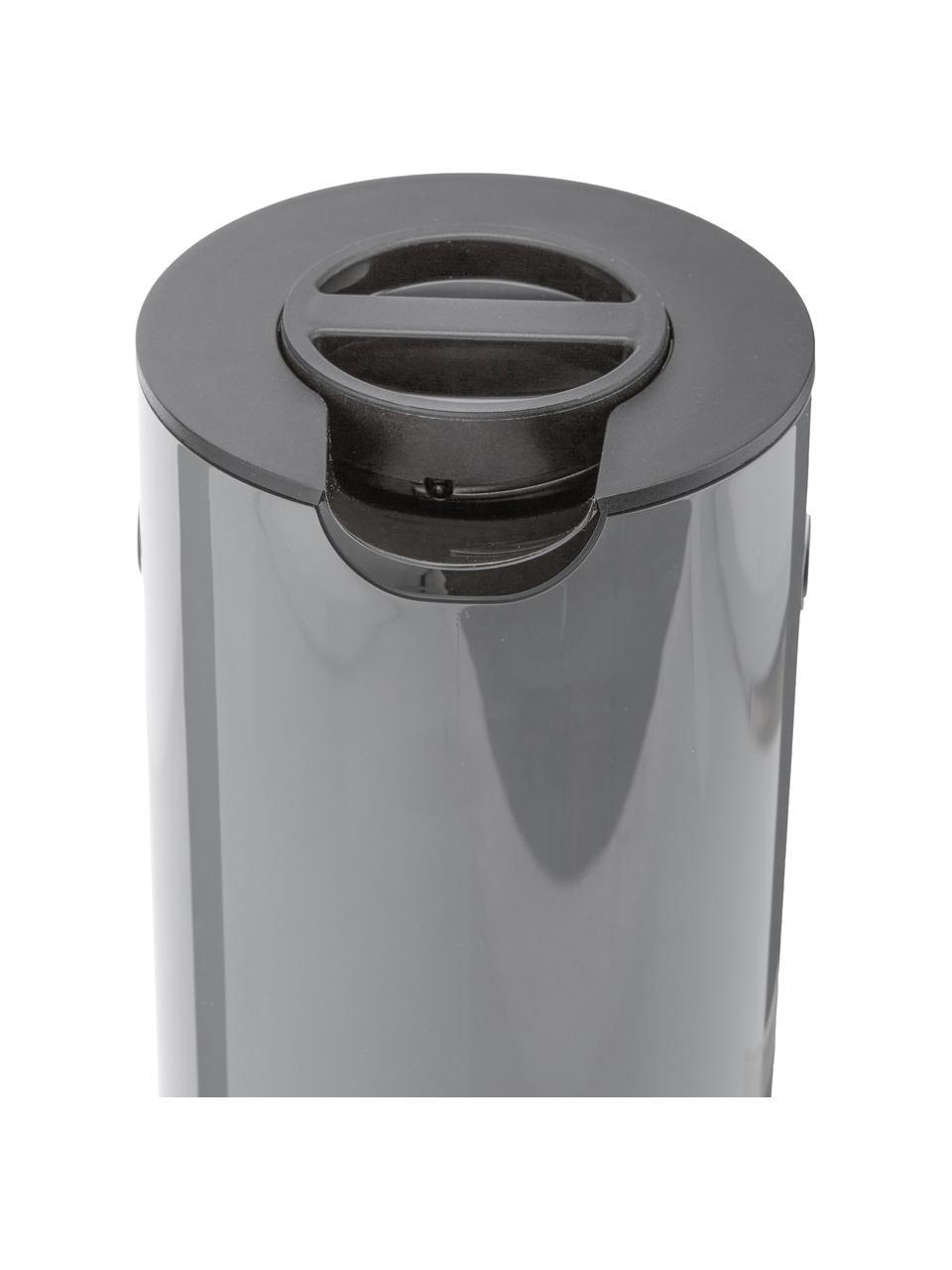 Isolierkanne EM77 in Grau glänzend, 1 L, ABS-Kunststoff mit Glaseinsatz, Granitgrau, 1 L