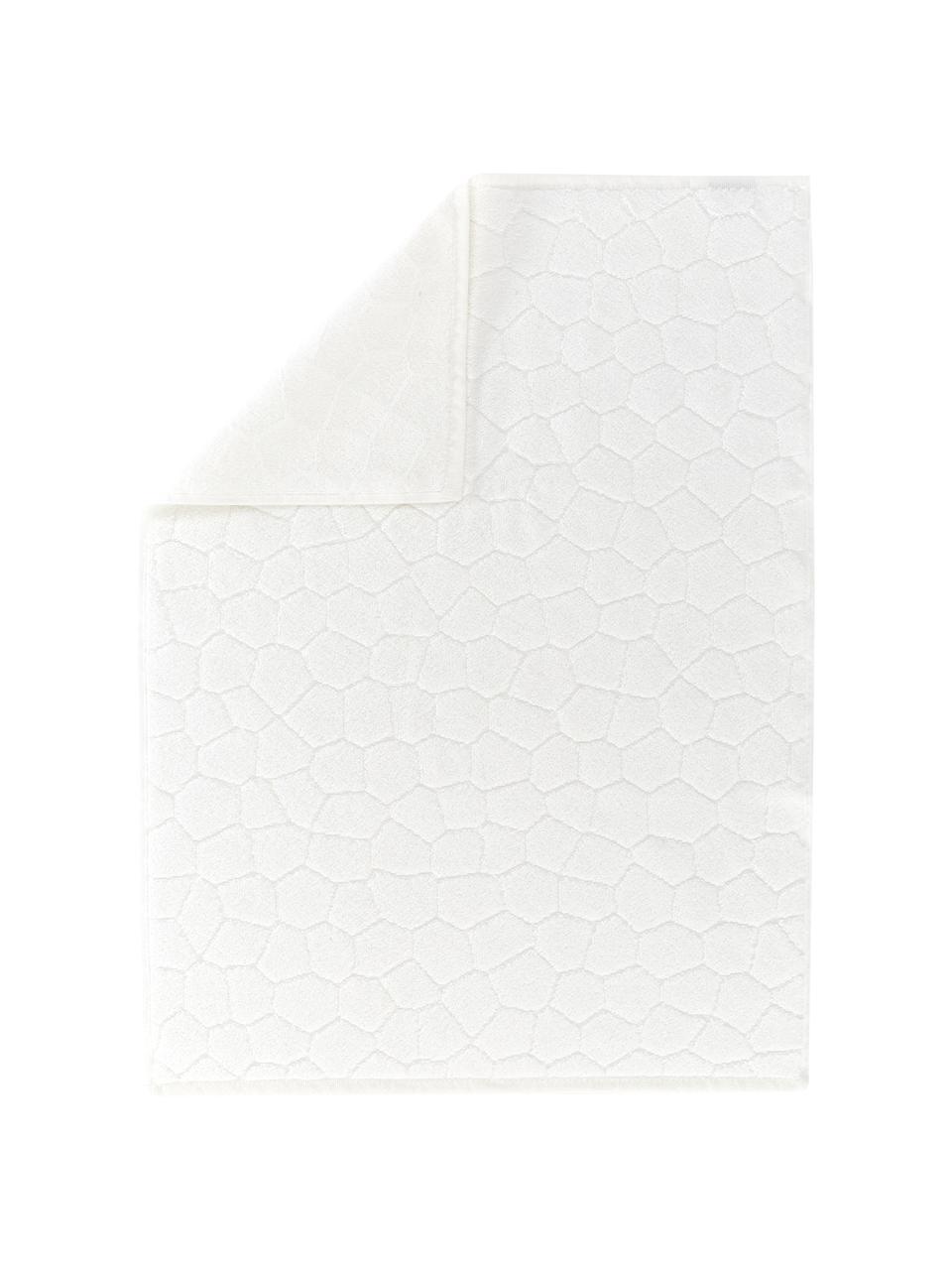 Badvorleger Stone, 100% Baumwolle, Gebrochenes Weiß, 50 x 70 cm